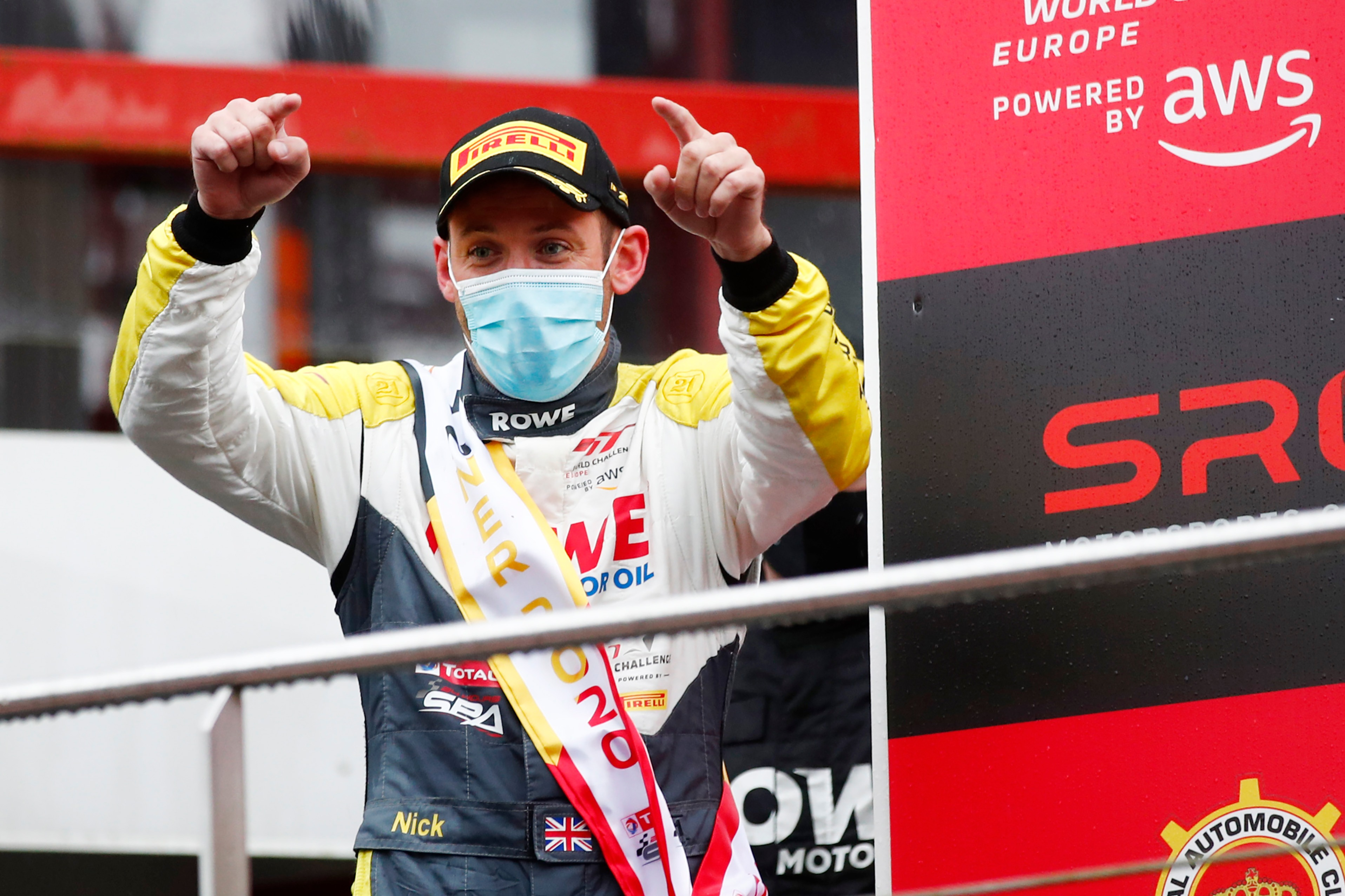 Nick Tandy celebrates 2020 Spa 24 victory
