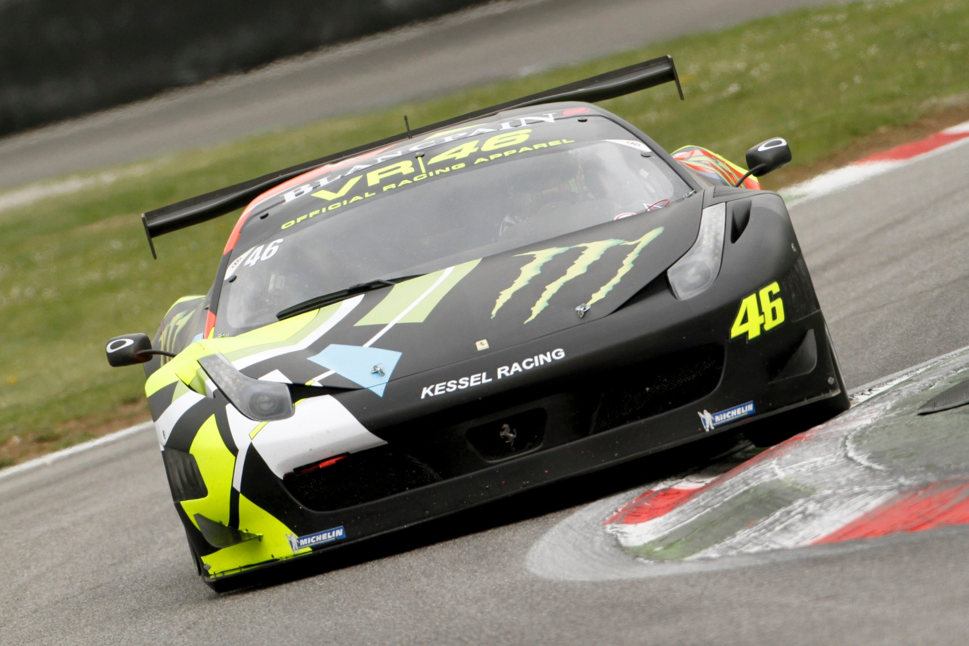 Valentino Rossi in Blancpain Endurance Series action at Monza in 2012