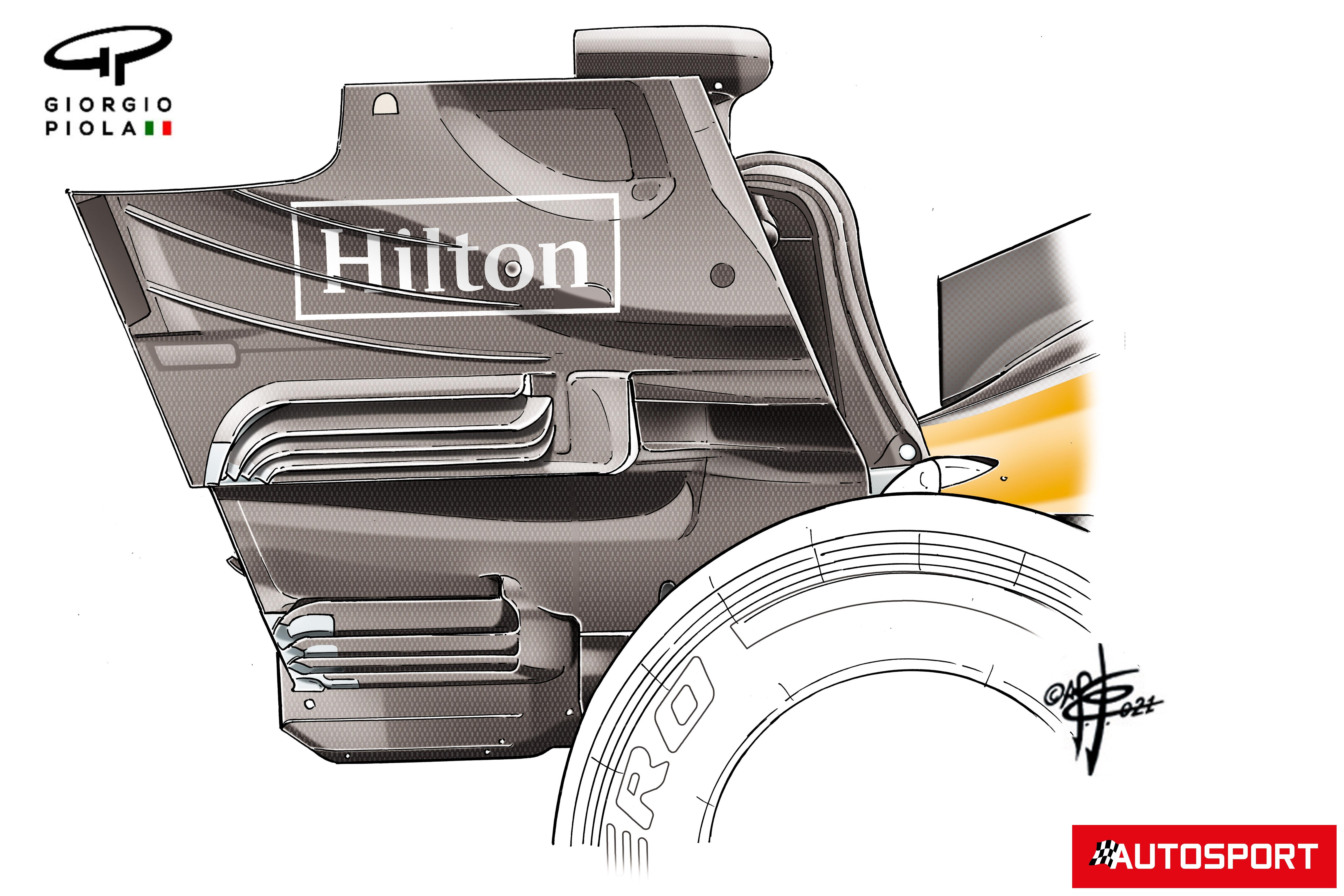 McLaren MCL35M rear end plate detail