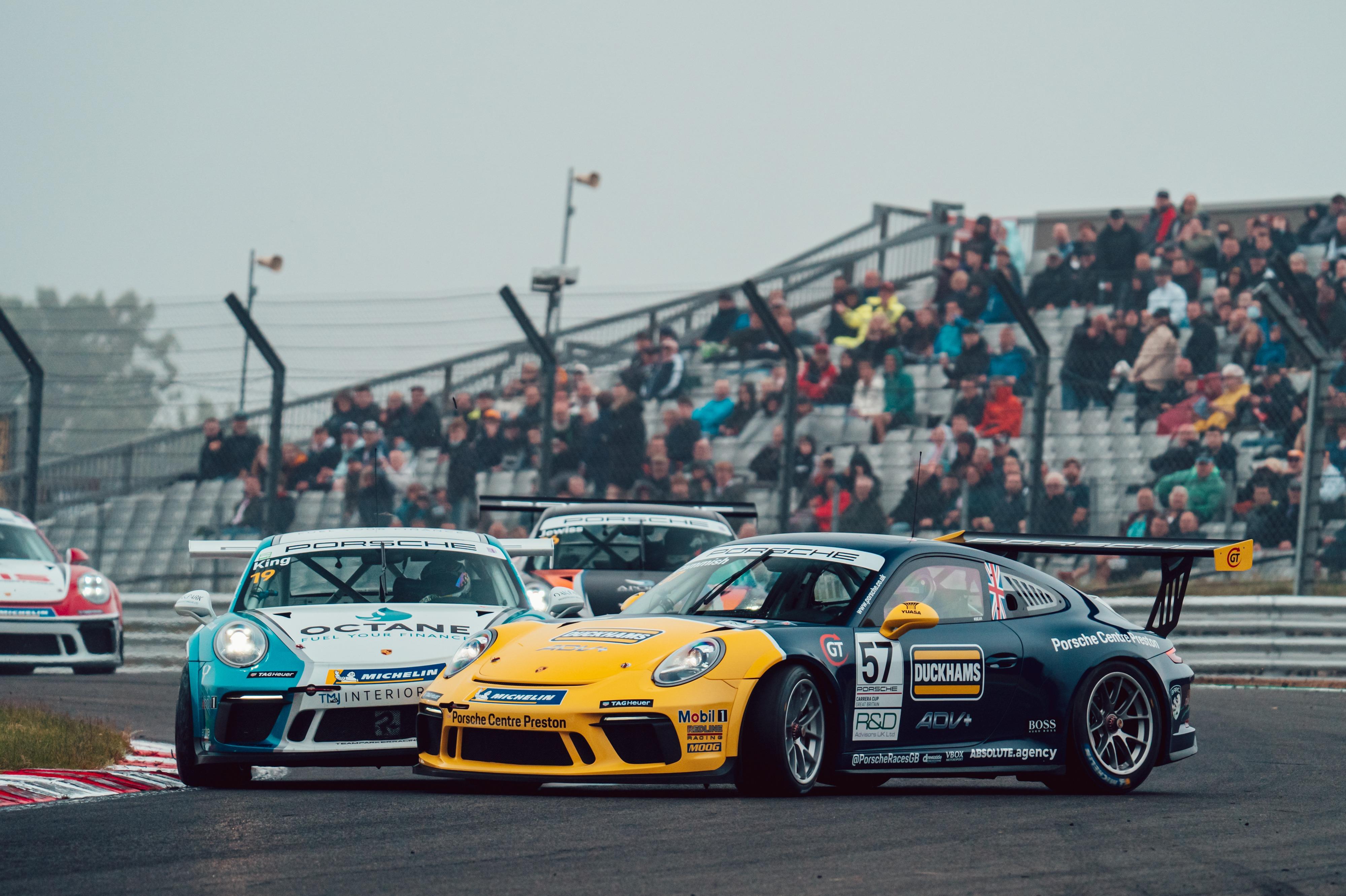 Dan Cammish and Harry King, Porsche Carrera Cup GB, Brands Hatch 2021