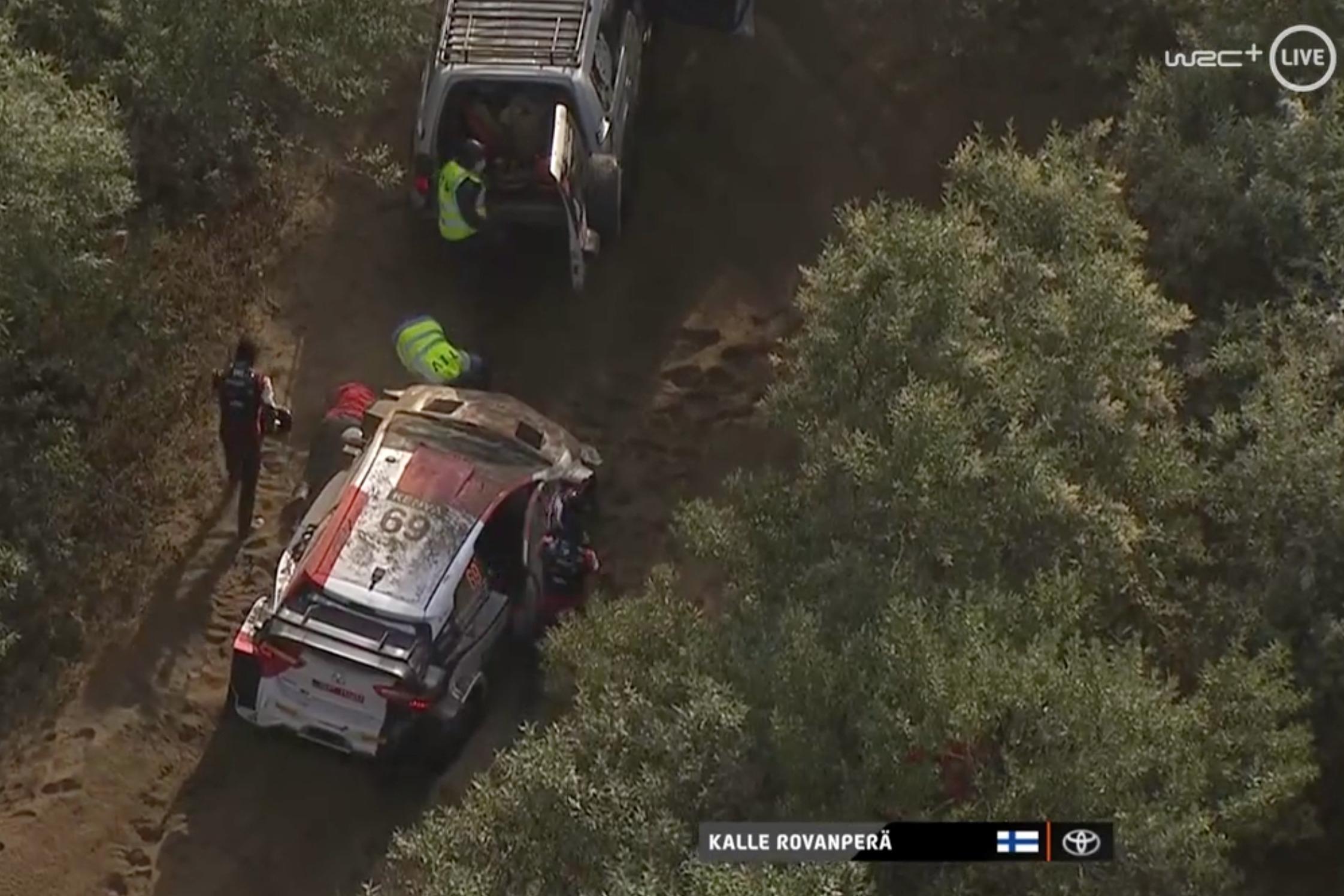 Toyota's Kalle Rovanpera stuck in a rut