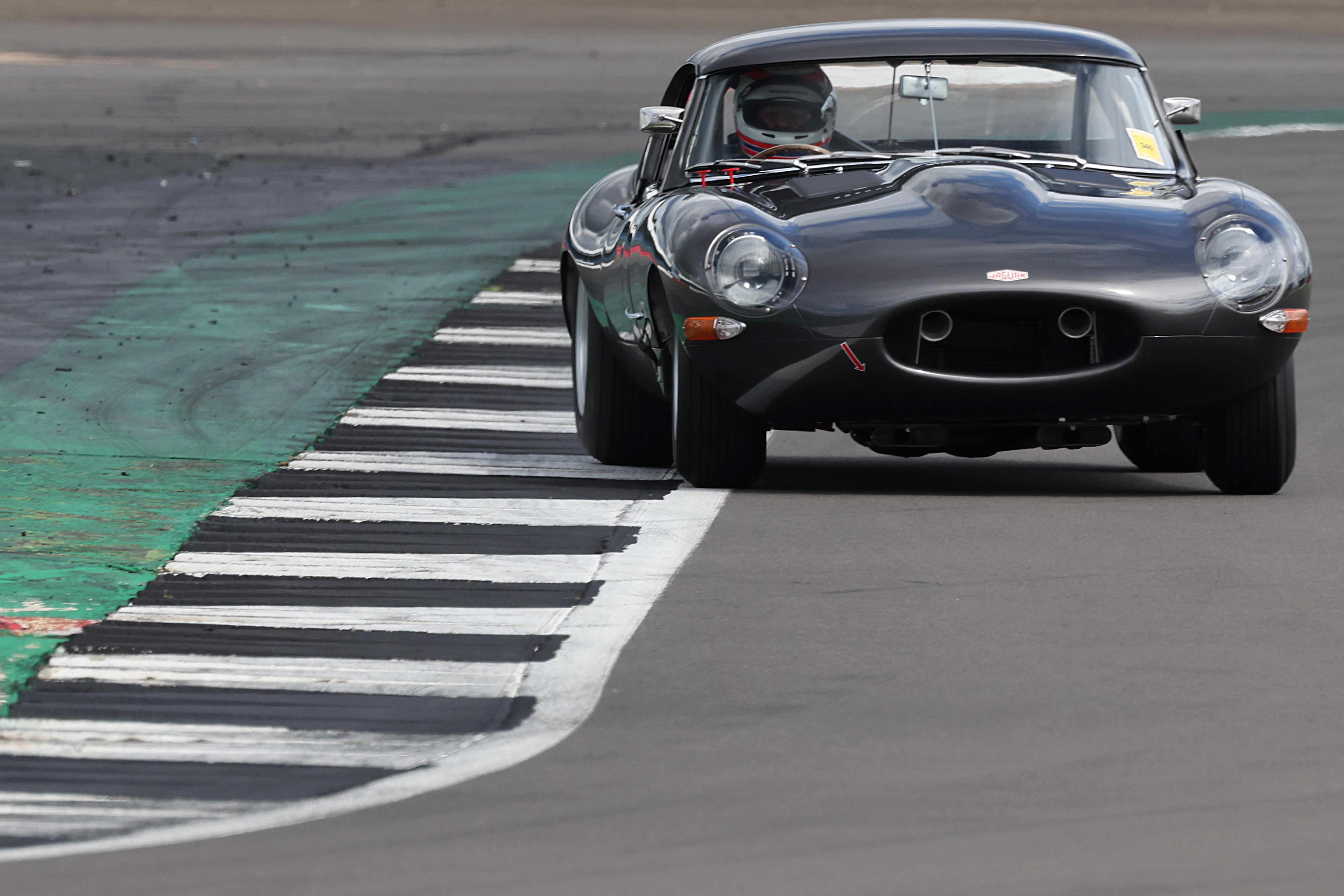 Martin Brundle Jaguar E-type Silverstone