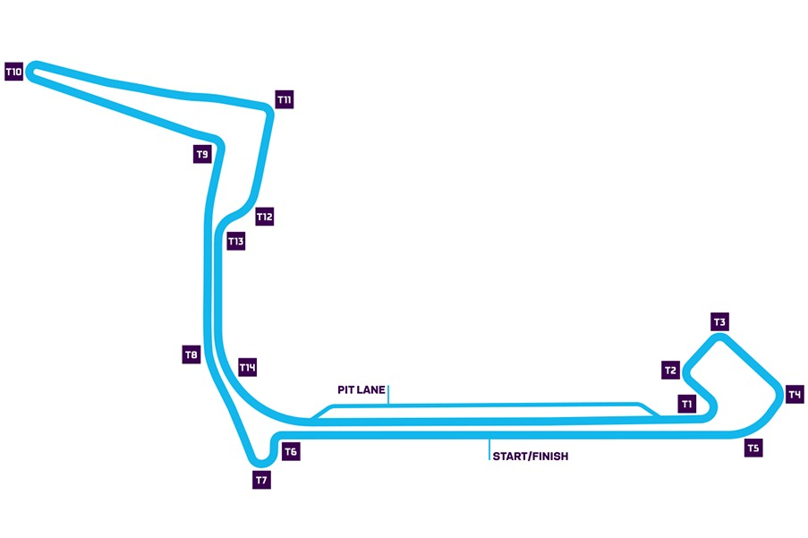 Trazado del ePrix de Nueva York, Formula E.