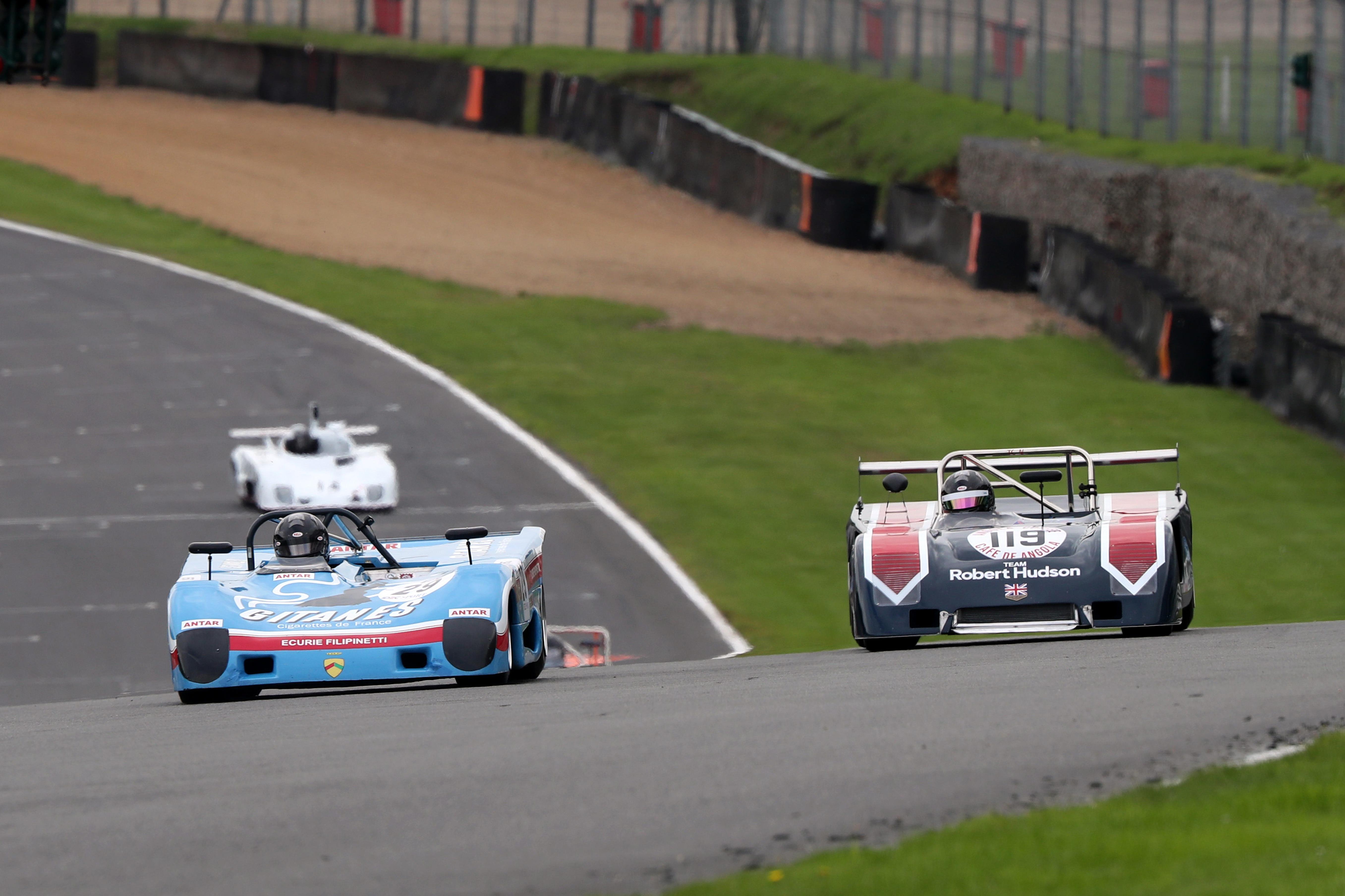 Mark Richardson (Lola T290), James Claridge (Chevron B23), Thundersports, Brands Hatch 2021
