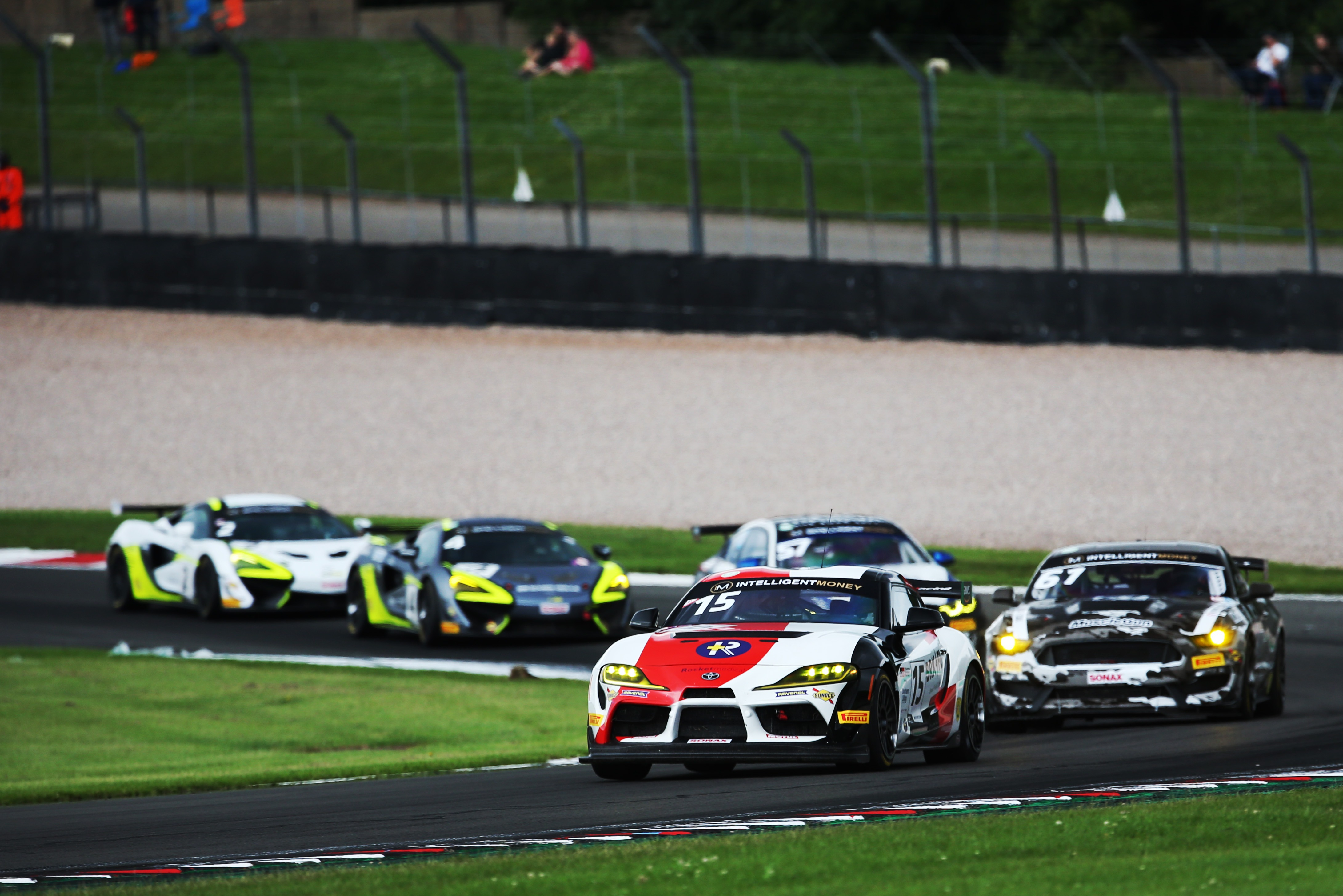 Ferguson got involved in contact attempting to fend off GT4 pack behind