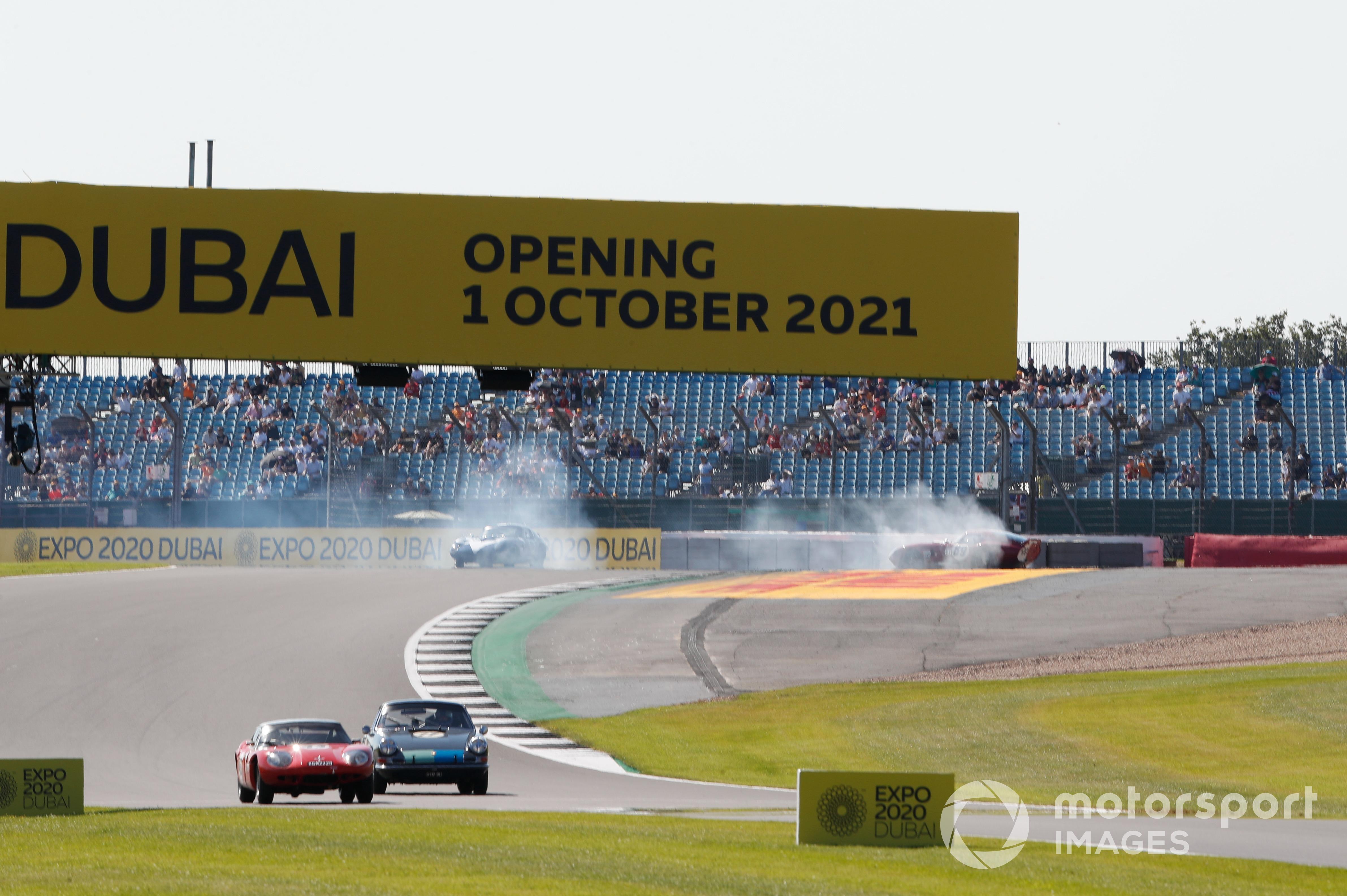 Julian Thomas and Andrew Jordan spin at Stowe, Silverstone British GP supports 2021