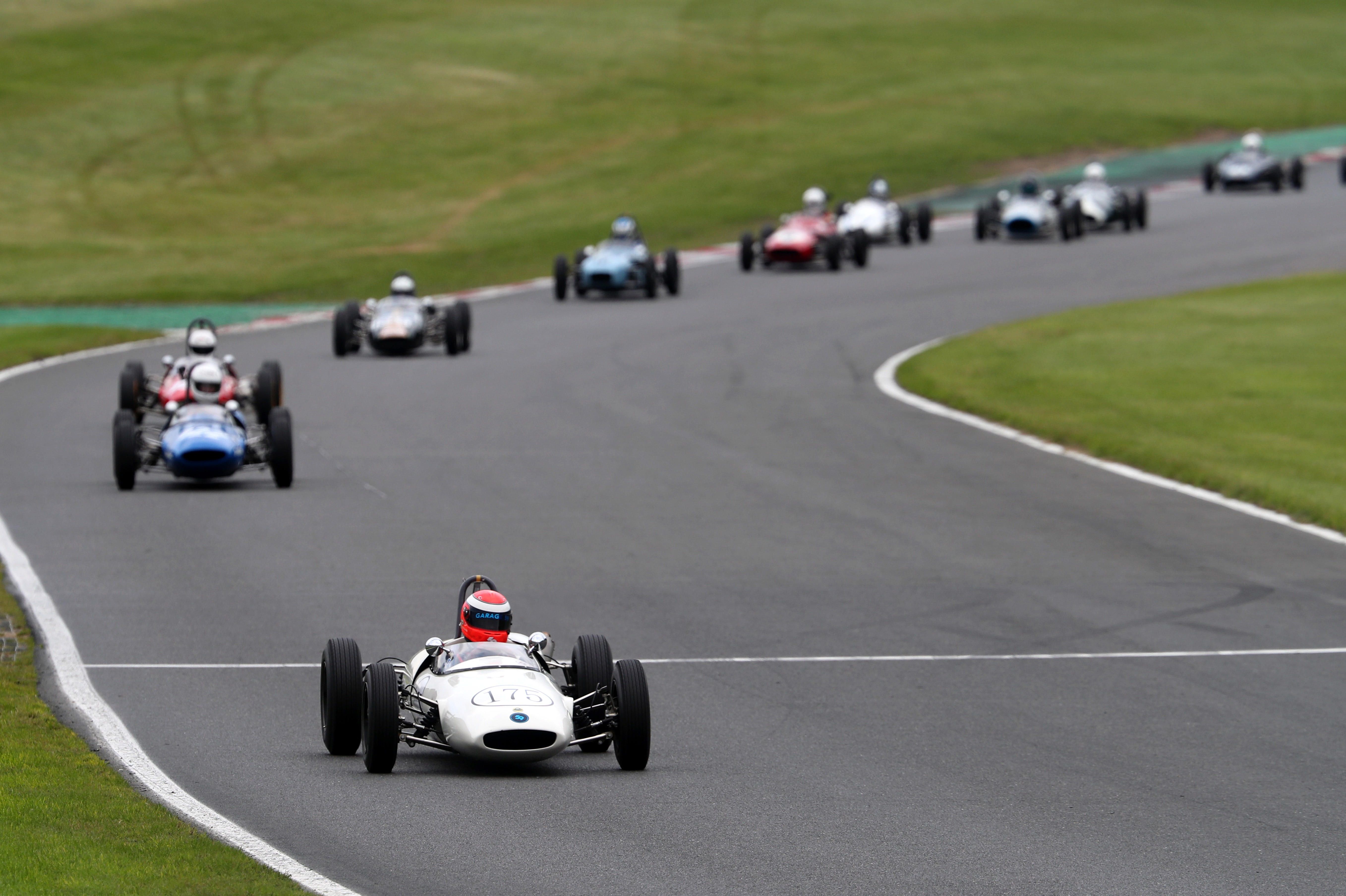 Chris Goodwin dominated the Historic Formula Junior bout in his Lotus 22