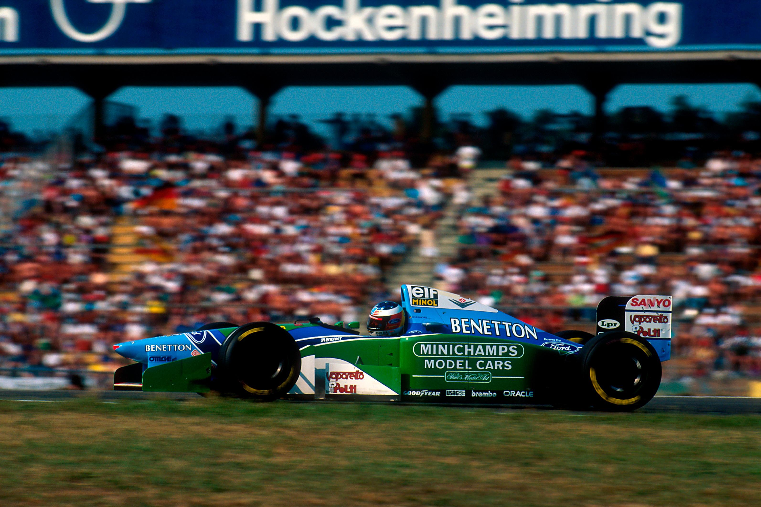 Schumacher's engine failure meant the Benetton mechanics could get proper treatment for their burns