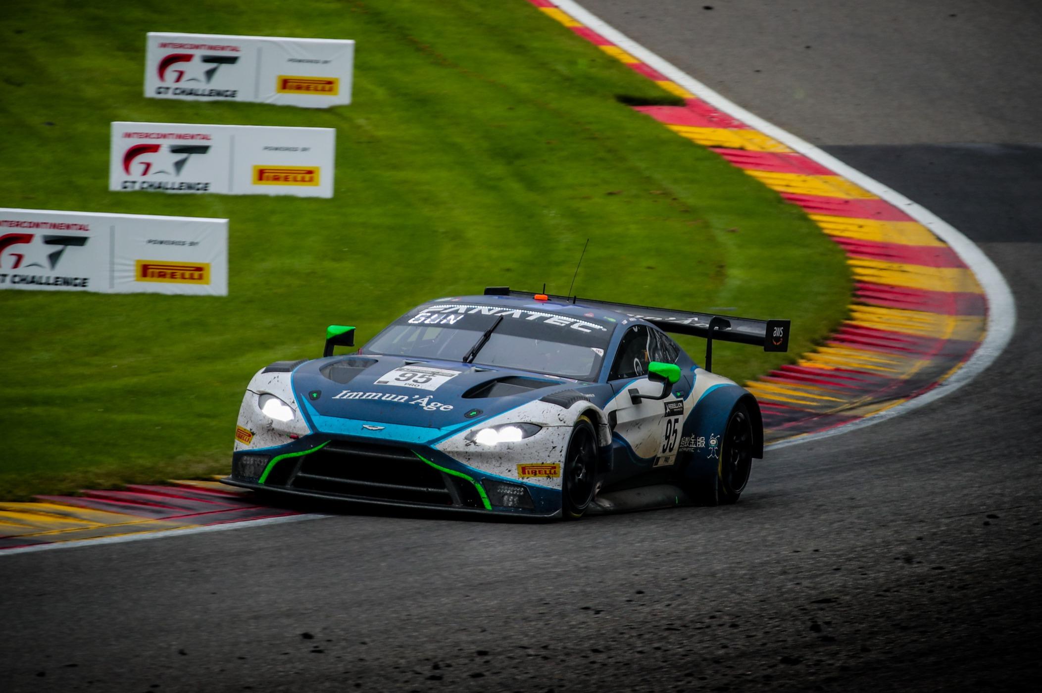 Sorensen, Thiim and Gunn are back on the lead lap in Pro class Garage 59 Aston