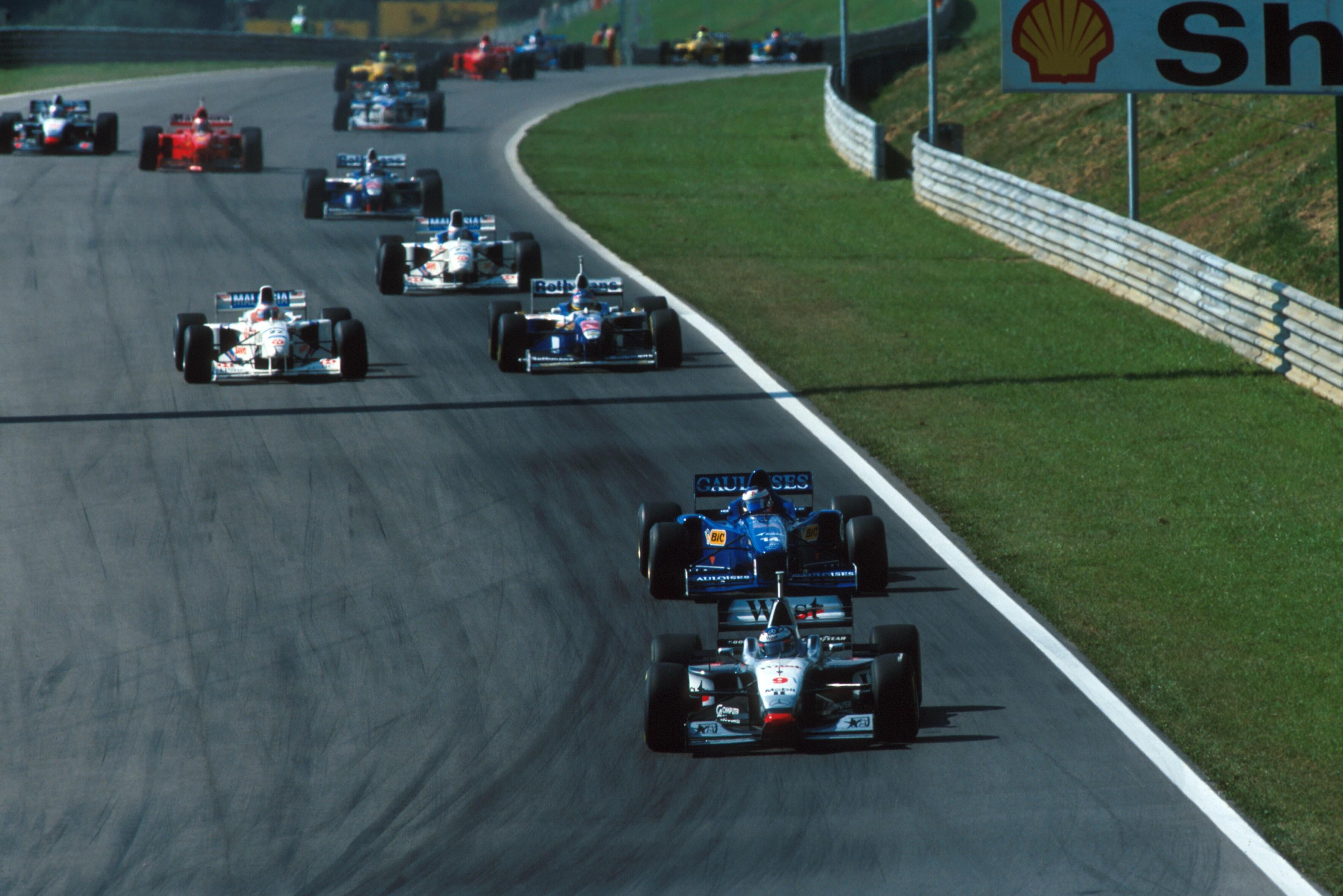 When Hakkinen retired on the opening lap, Trulli led the first 37 laps of F1's return to Austria before retiring from second