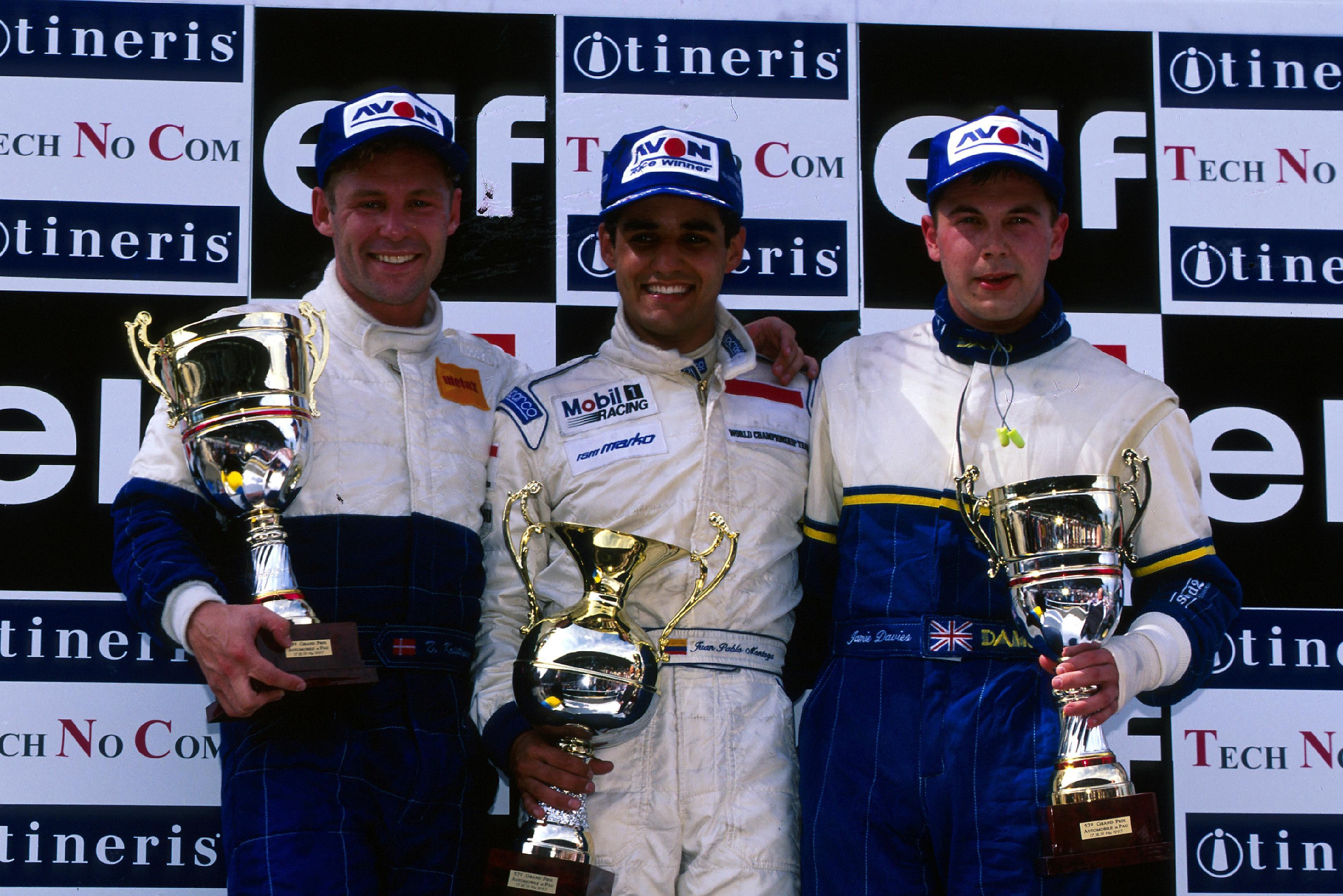 Davies (right), raced and beat Kristensen and Montoya in F3000 but lacked finance to reach F1