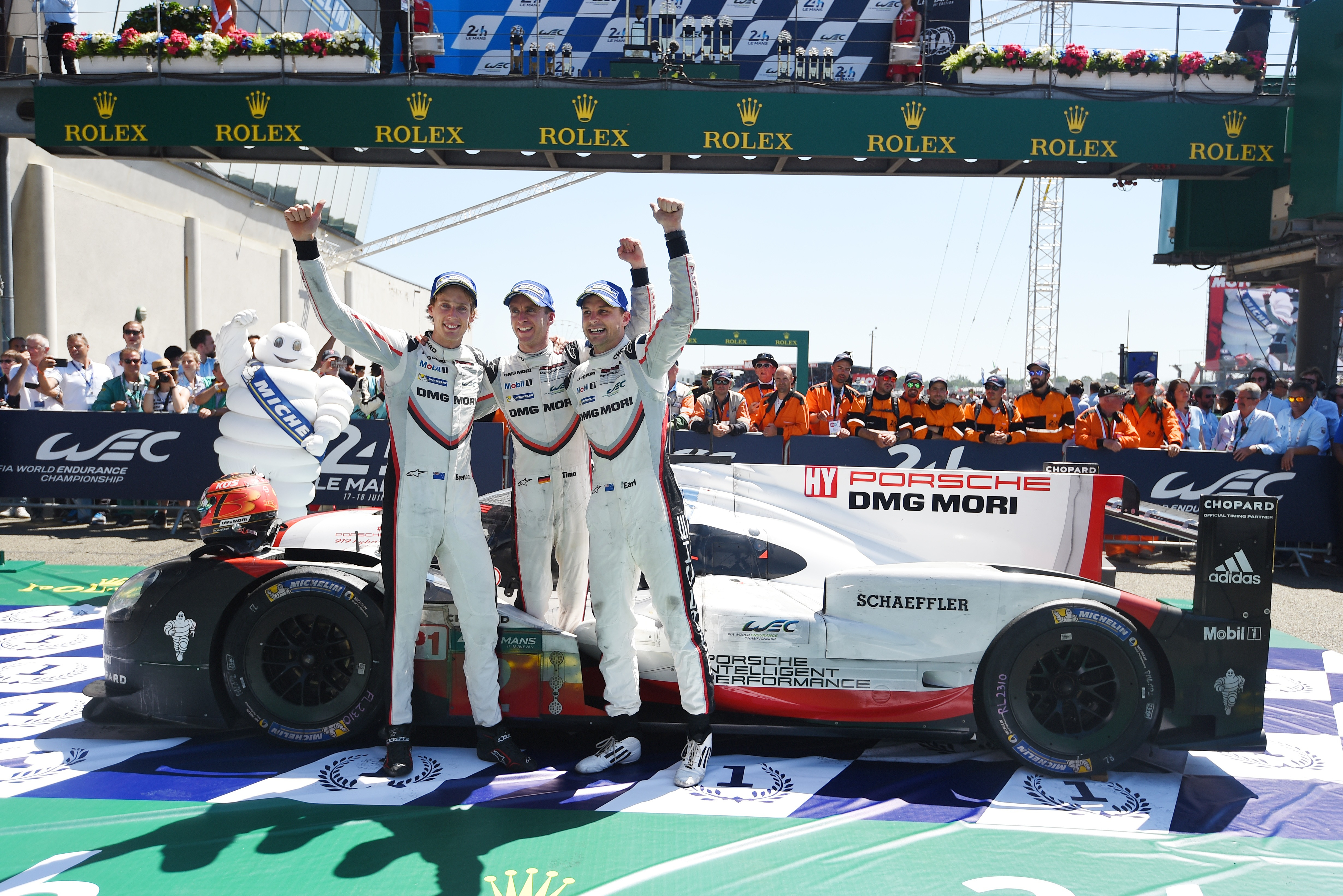 Kiwis Hartley and Bamber joined Bernhard to take advantage of more Toyota woe in Porsche's most recent win in 2017