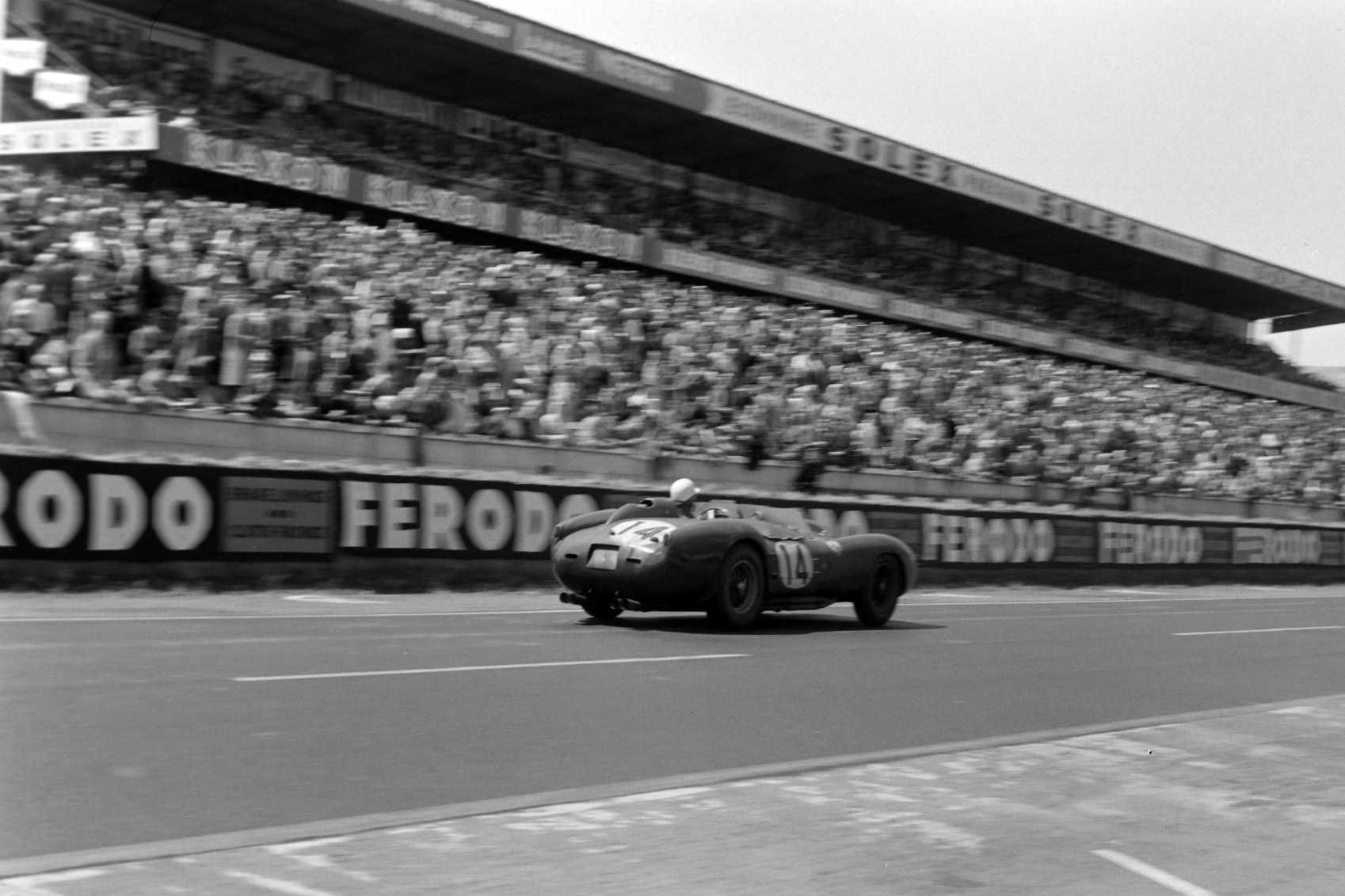 Pictured here in 1958, Gendebien won four times in a Ferrari and was the most successful driver of his era