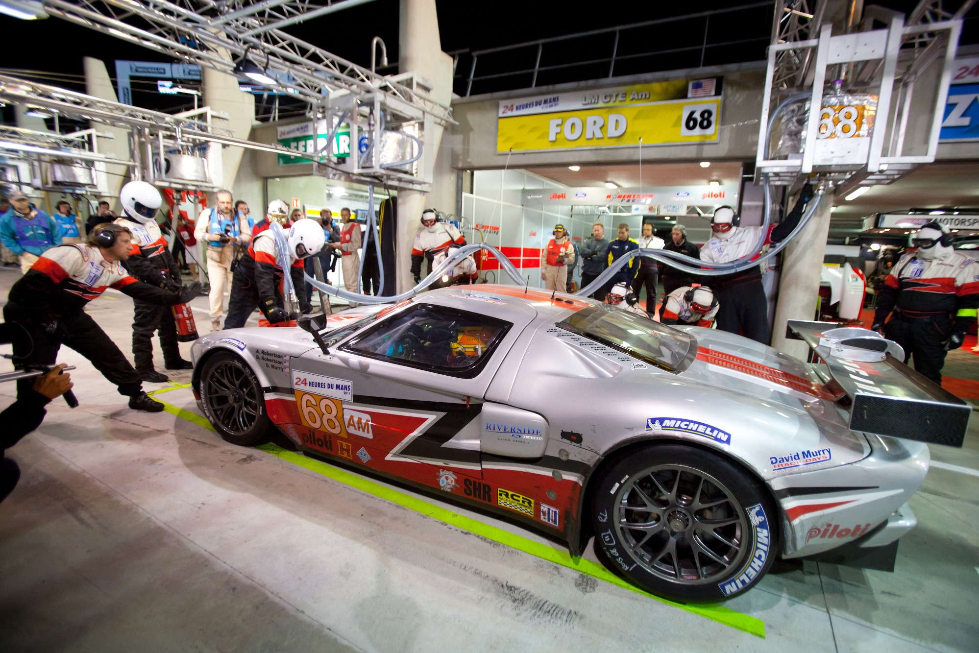 Robertson husband and wife team claimed GTE Am podium at Le Mans in 2011