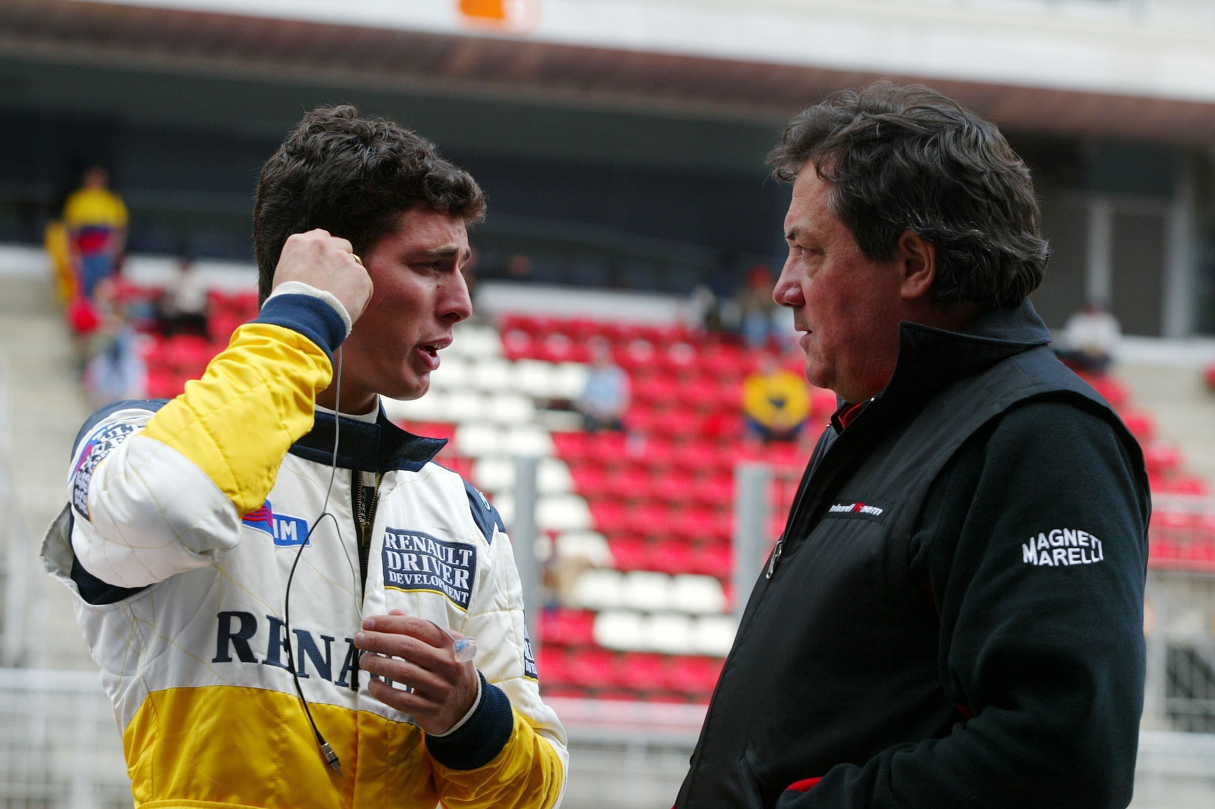 Lopez, pictured with Giancarlo Minardi in 2004, had close ties with Renault until he was cut loose at the end of 2006