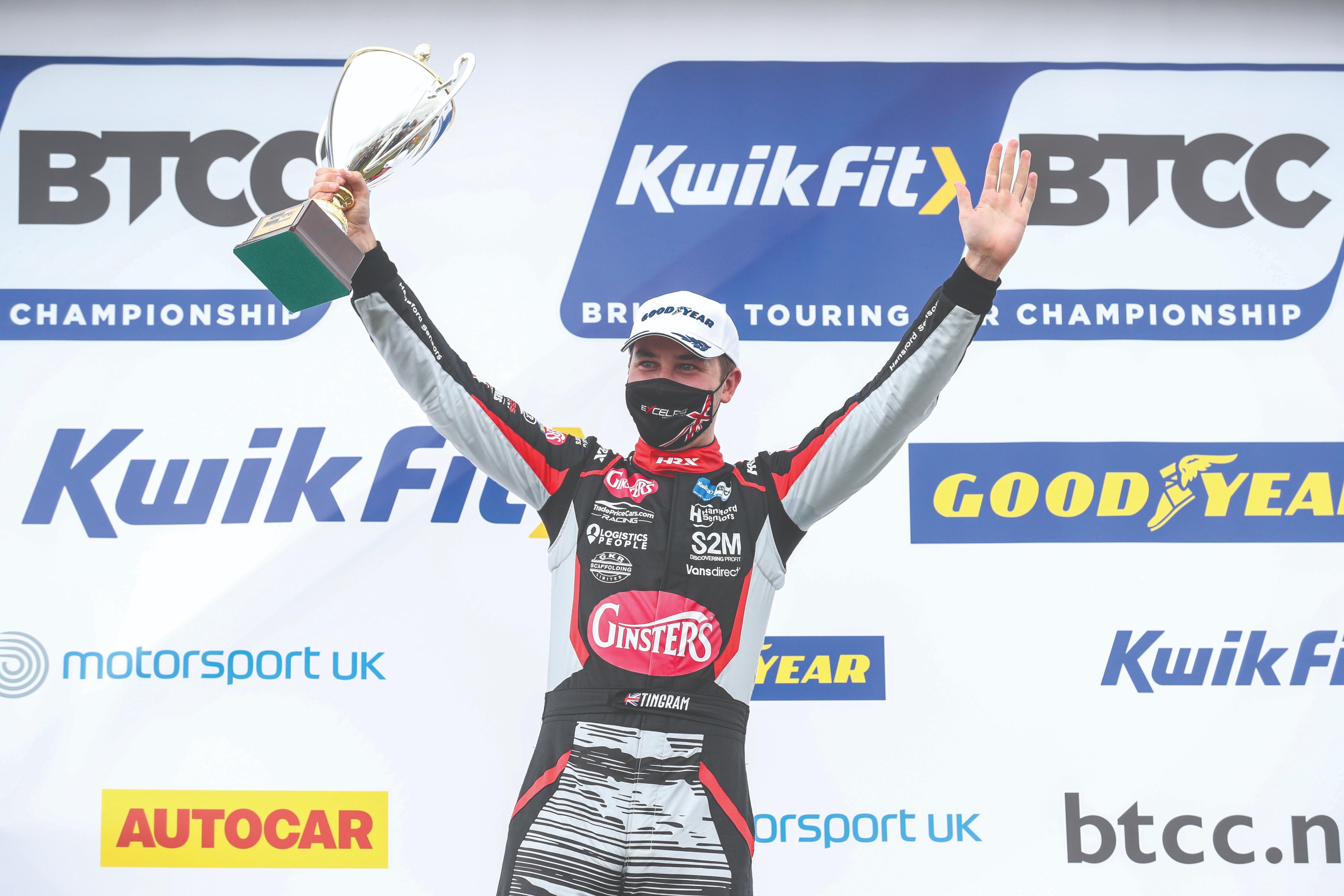 Tom Ingram is among the group of BTCC drivers now sporting HRX racewear