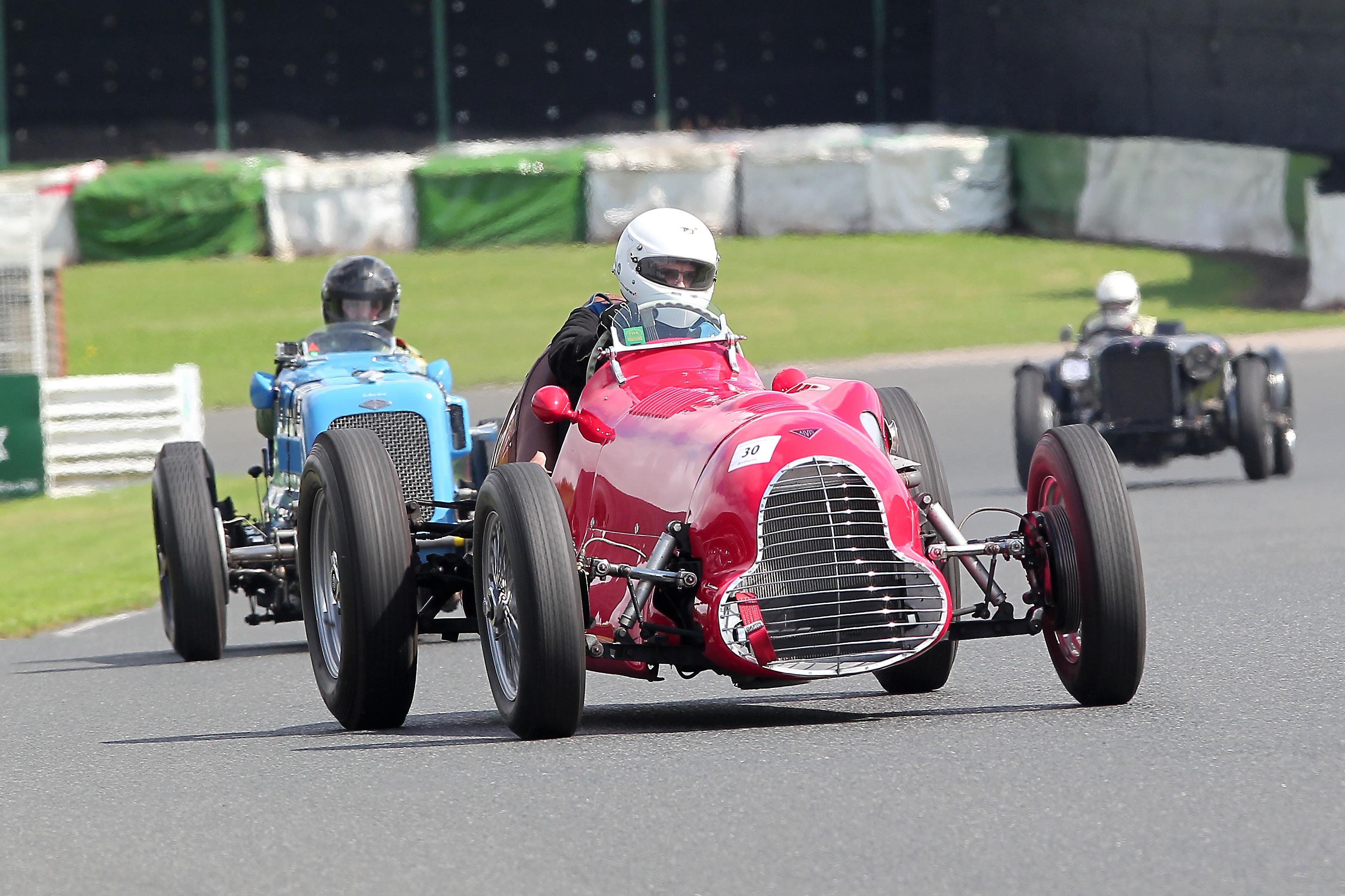 Alex Simpson's Goodwin Special won the Alvis Centenary race