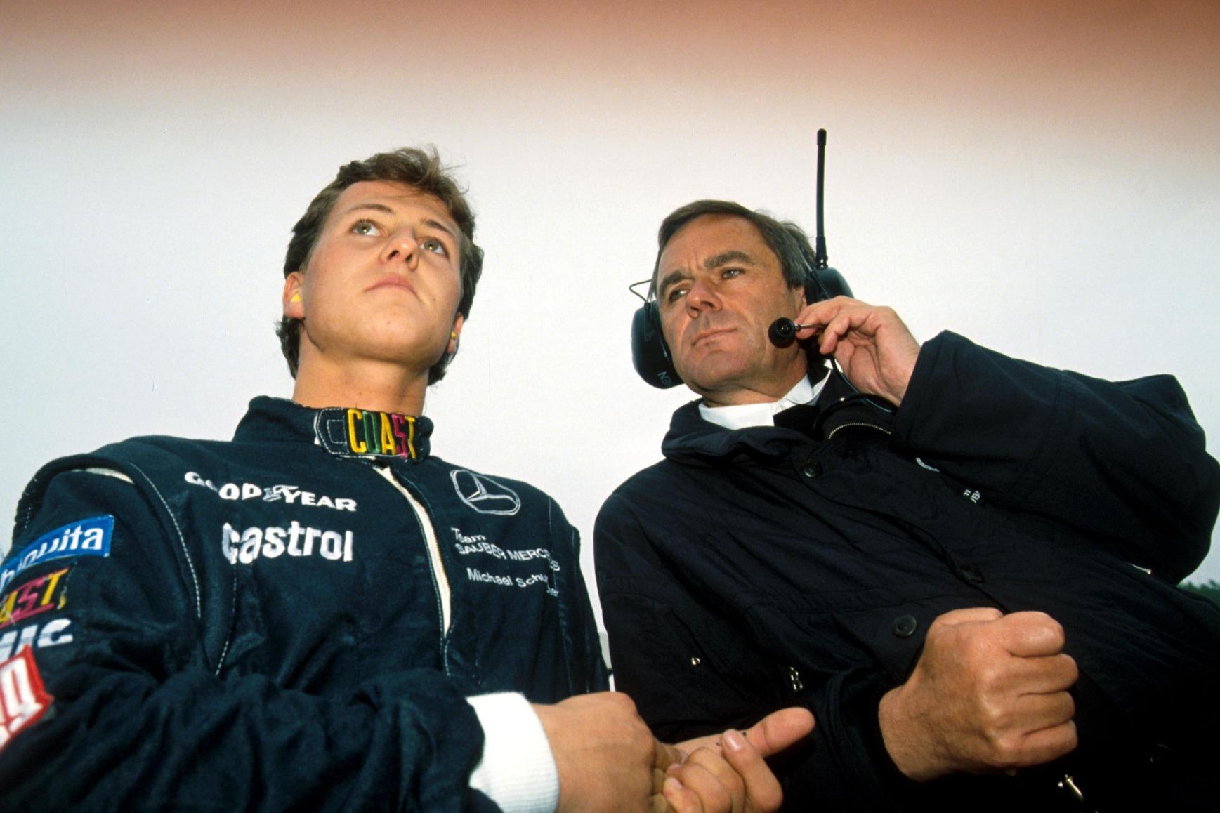 Schumacher's close relationship with Mercedes boss Neerpasch helped him into Jordan seat