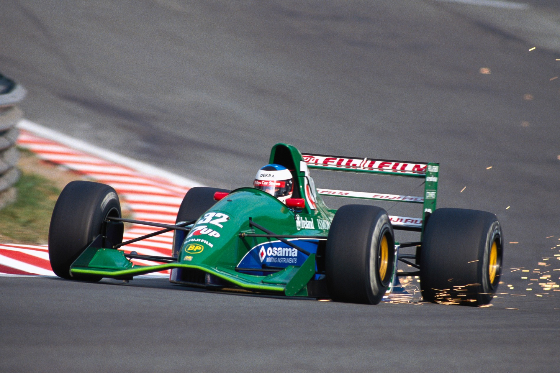 Schumacher took his time to work up to taking Eau Rouge flat
