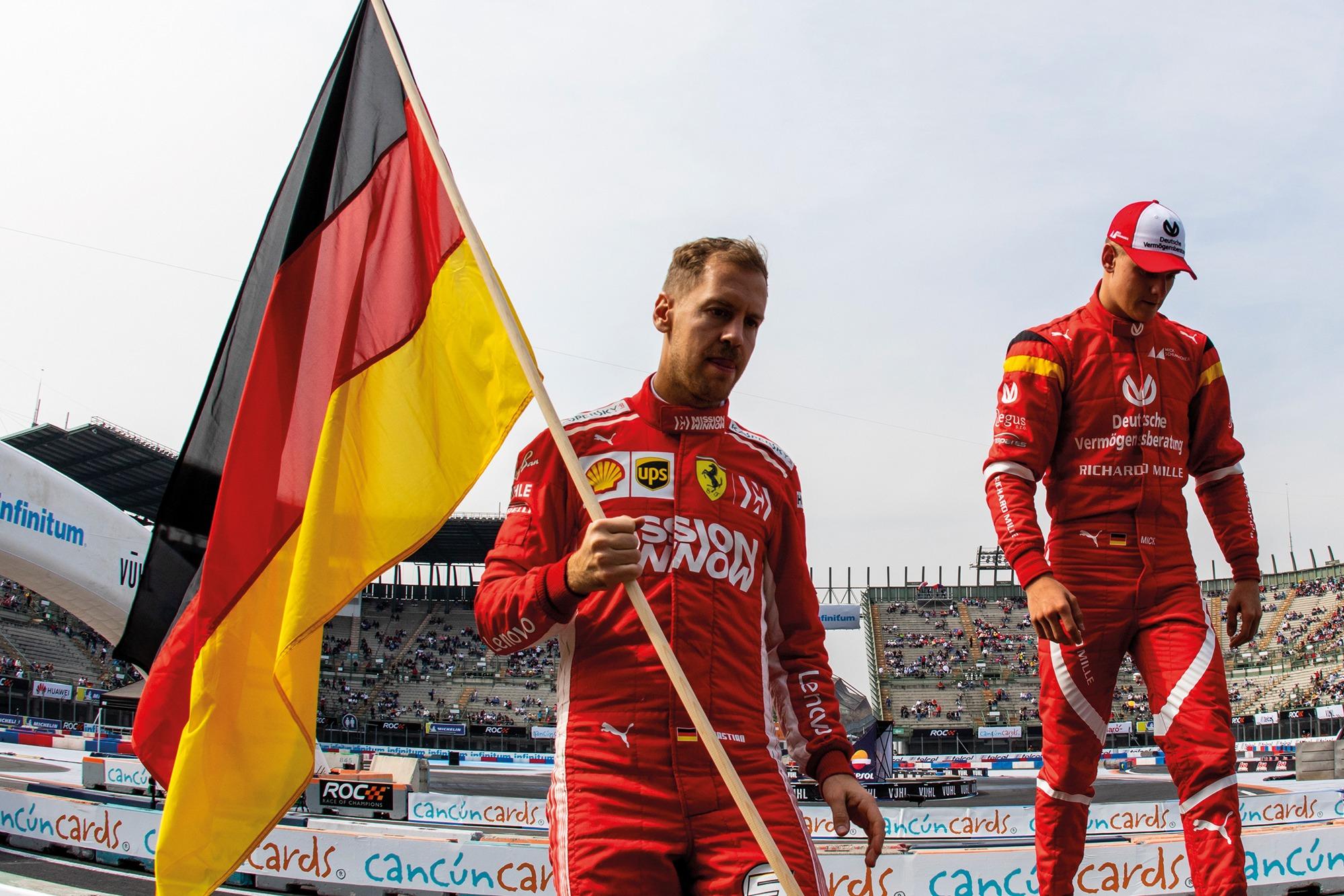 Vettel y Schumacher fueron compañeros en la Carrera de Campeones en 2019.