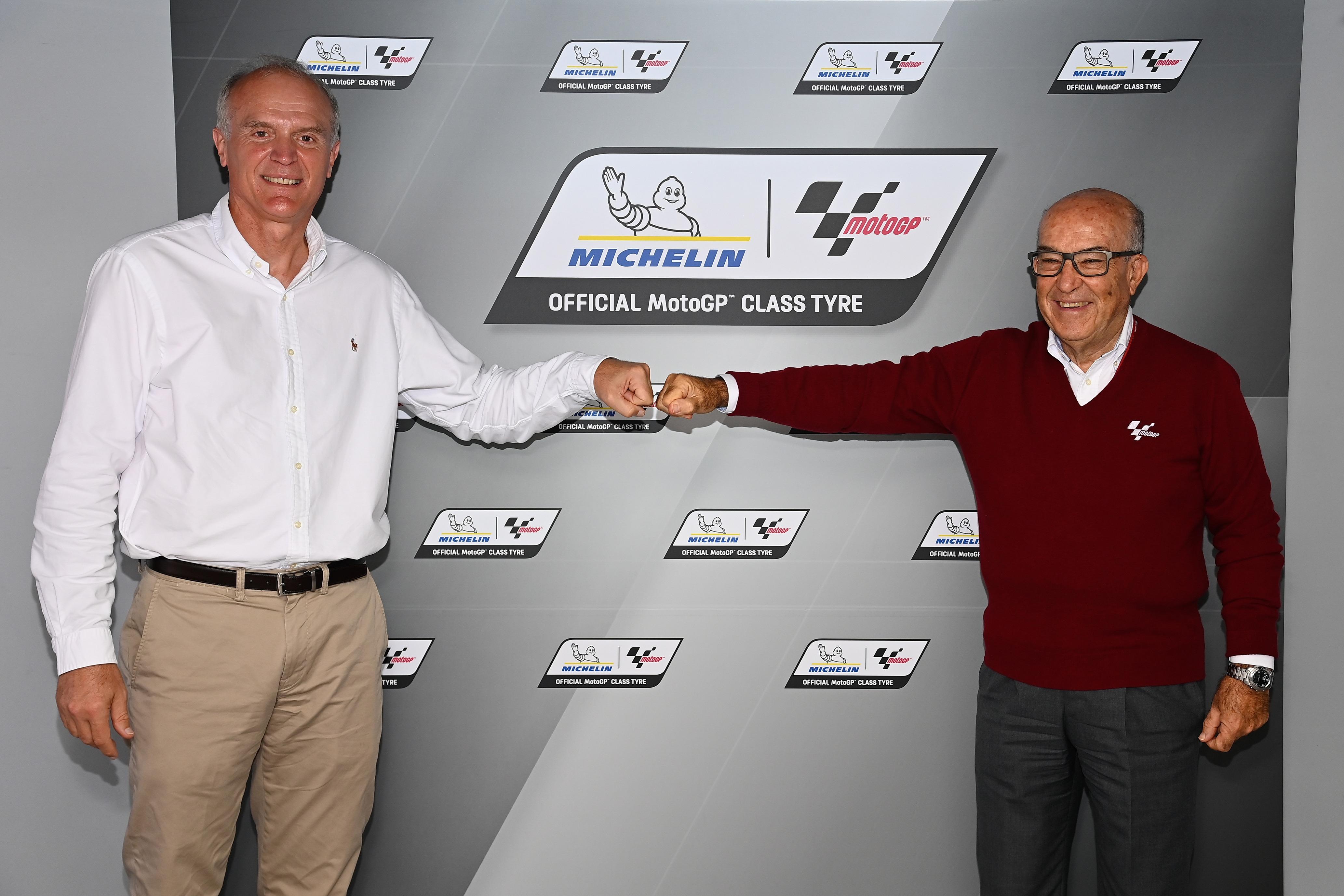 Florent Ménégaux (Michelin) y Carmelo Ezpeleta (Dorna)