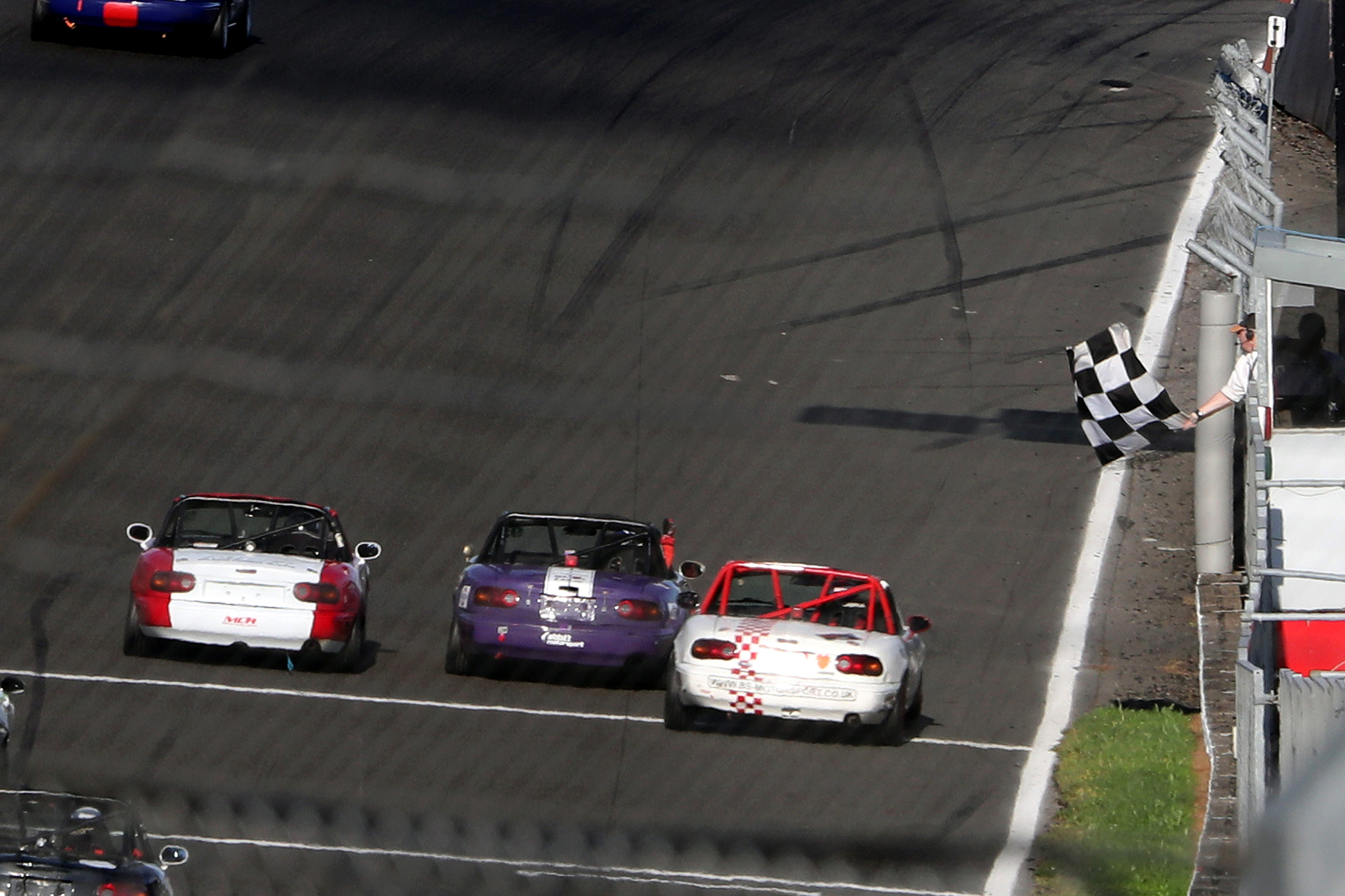 Ben Short (right) just missed out on race-one win to Ben Abbitt, but picked up the MX-5 Cup title. Brands Hatch 2021
