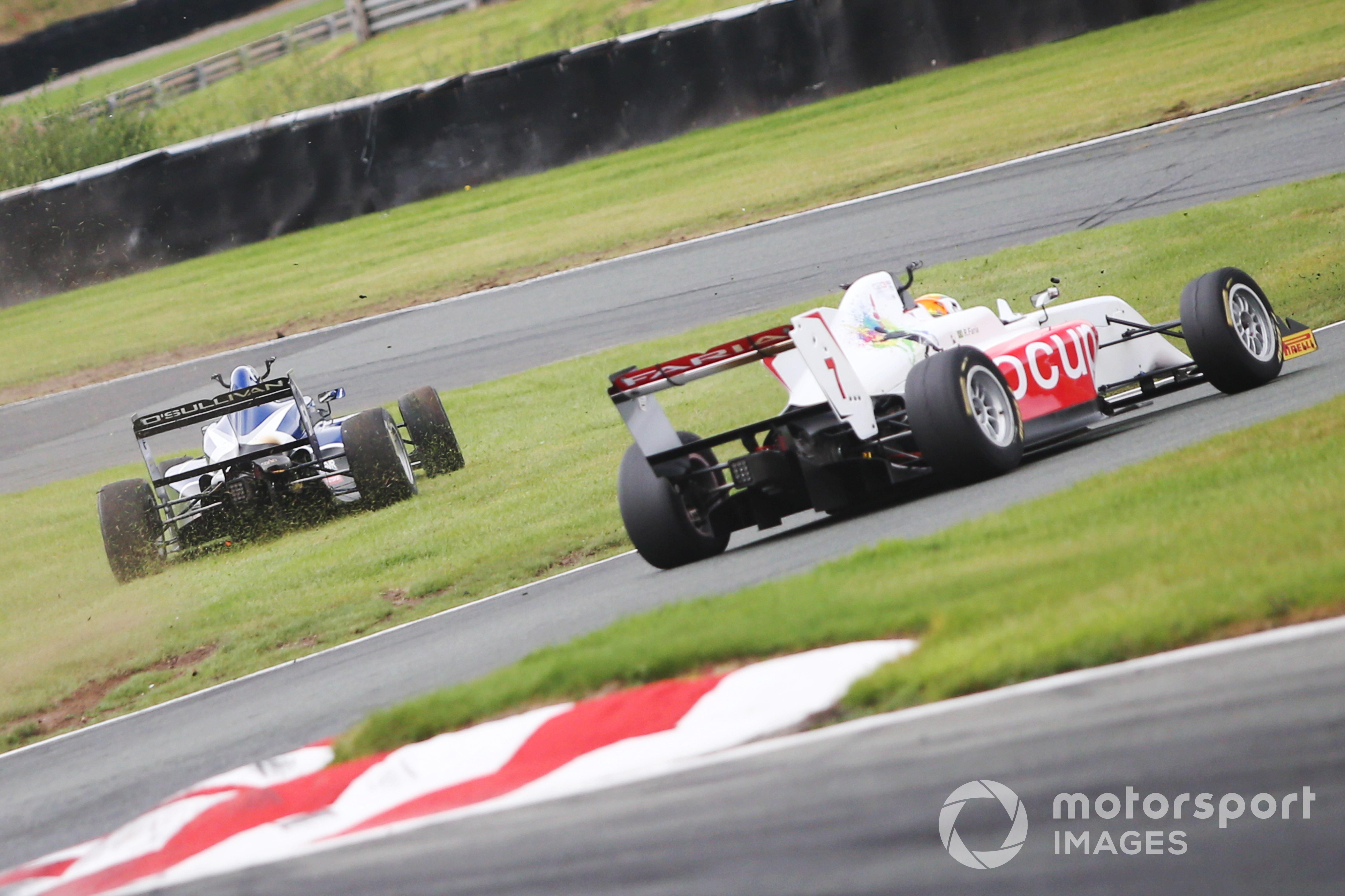 Zak O'Sullivan heads off the track, GB3, Oulton Park 2021
