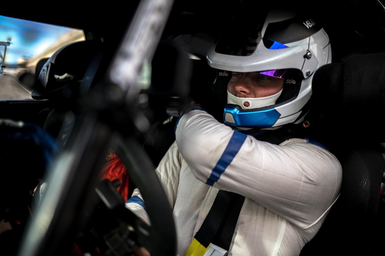 Valtteri Bottas driving a Citroen DS3 WRC