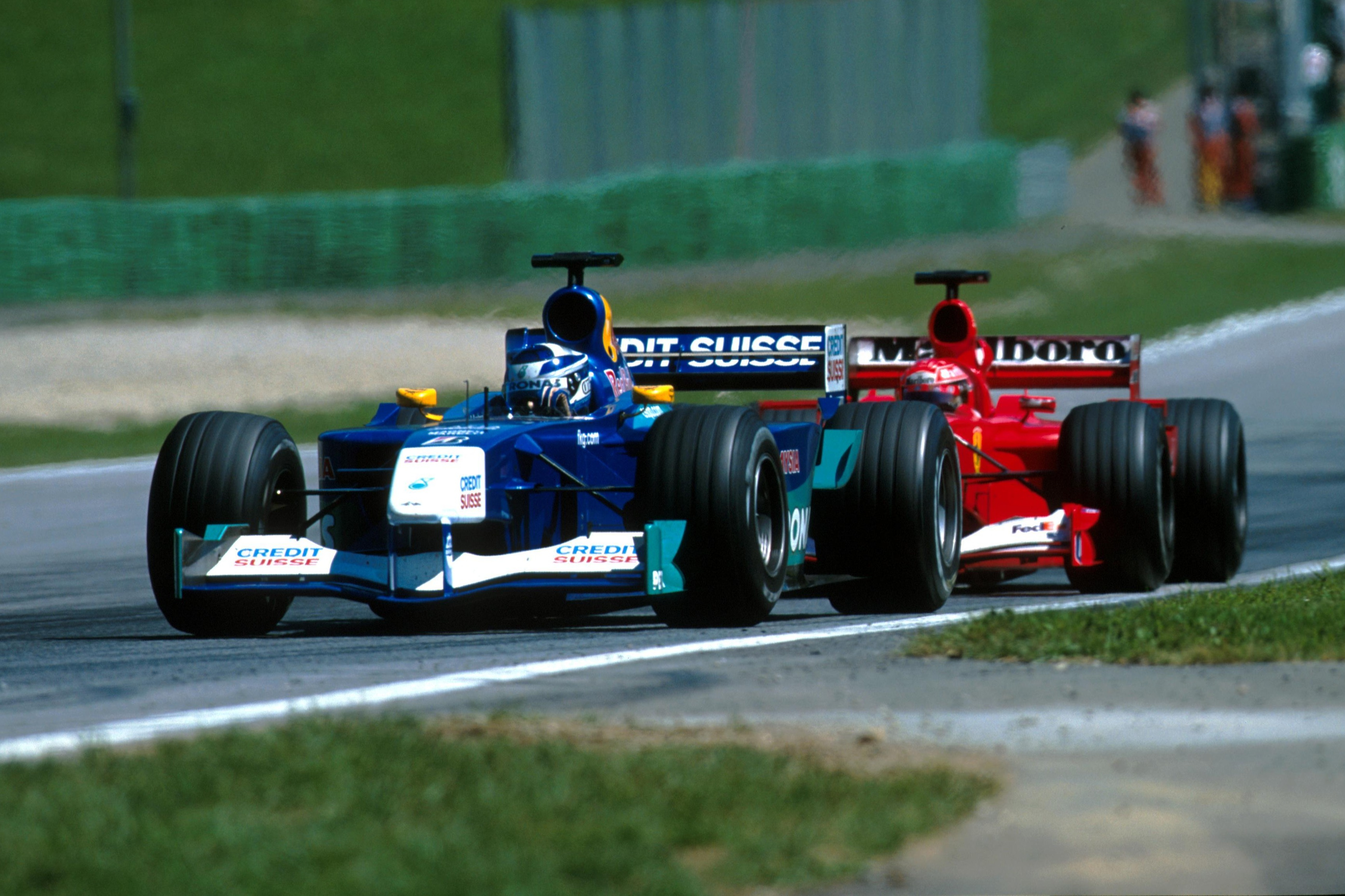 Raikkonen was heavily linked with a move to Ferrari, although it seemed he would have to bide his time a while longer at Sauber