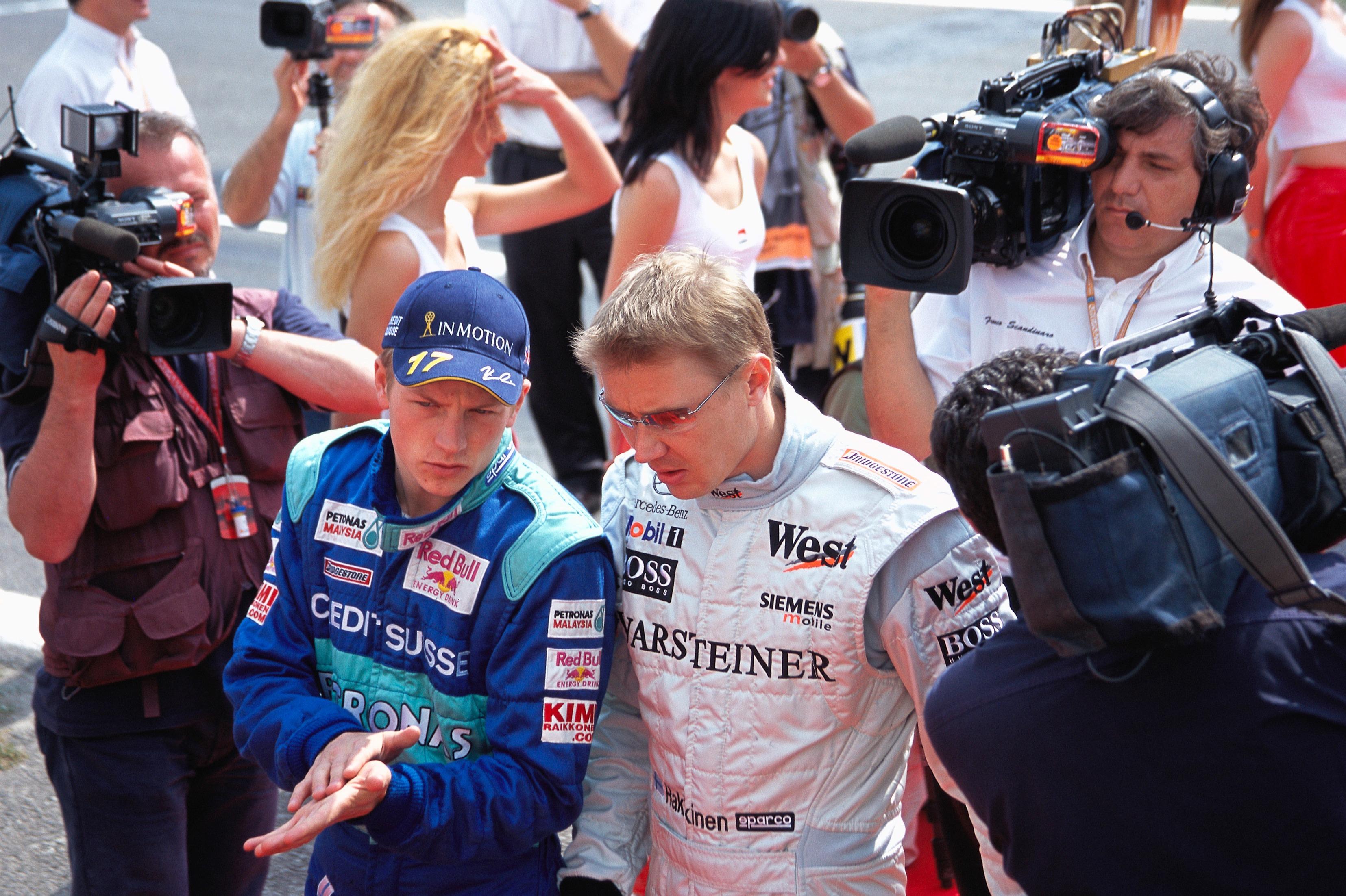 Raikkonen got his chance in a top car sooner than expected, when he replaced Hakkinen at McLaren for 2002