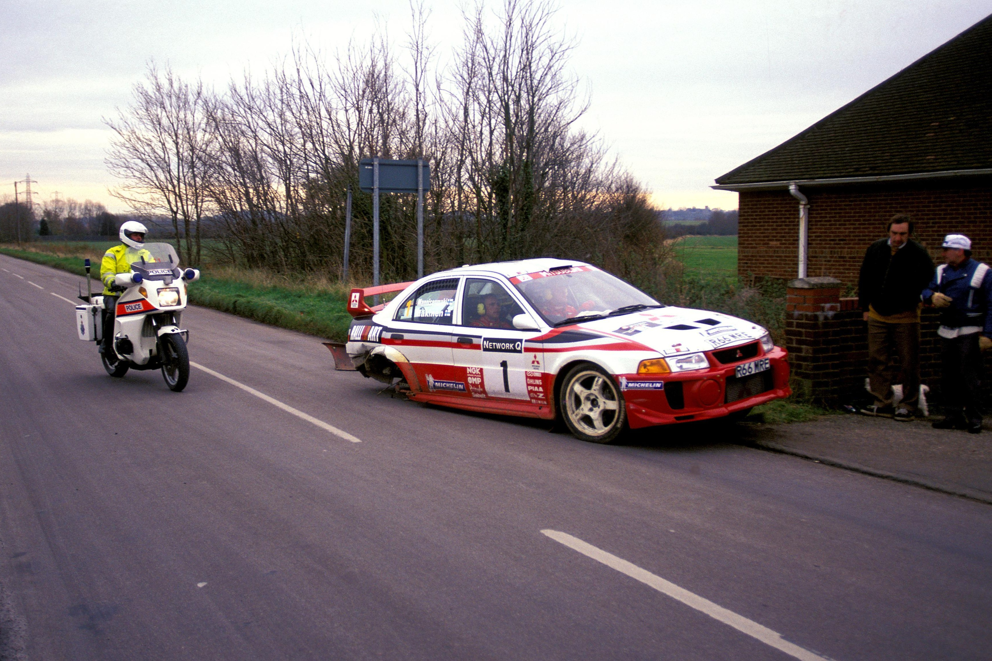 An unconventional way of winning a third world title - Makinen believed he was down and out after losing a wheel and being pulled over by police, only for Toyota engine trouble to deny Sainz