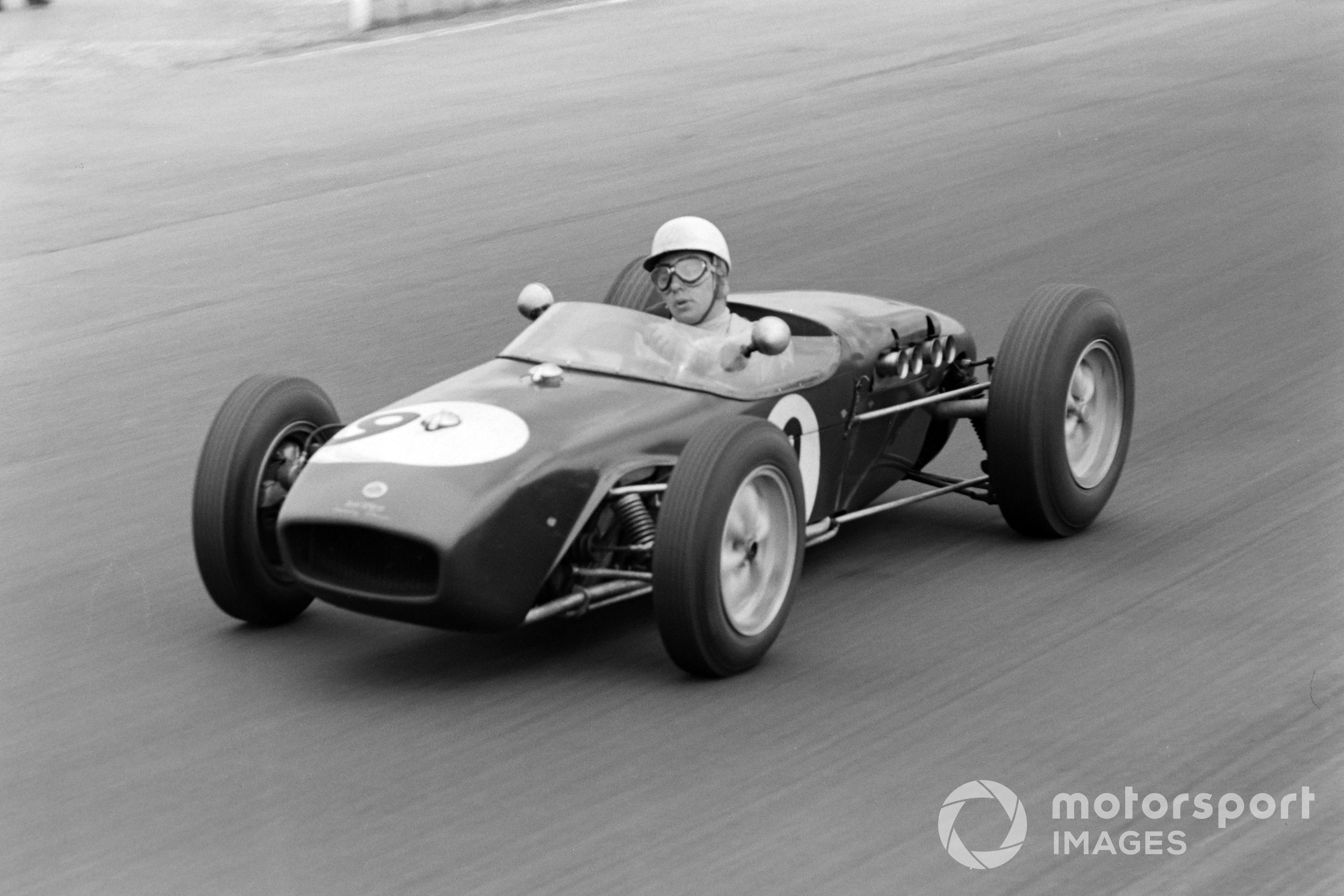 John Surtees in the Lotus-Climax 18 at the 1960 British GP