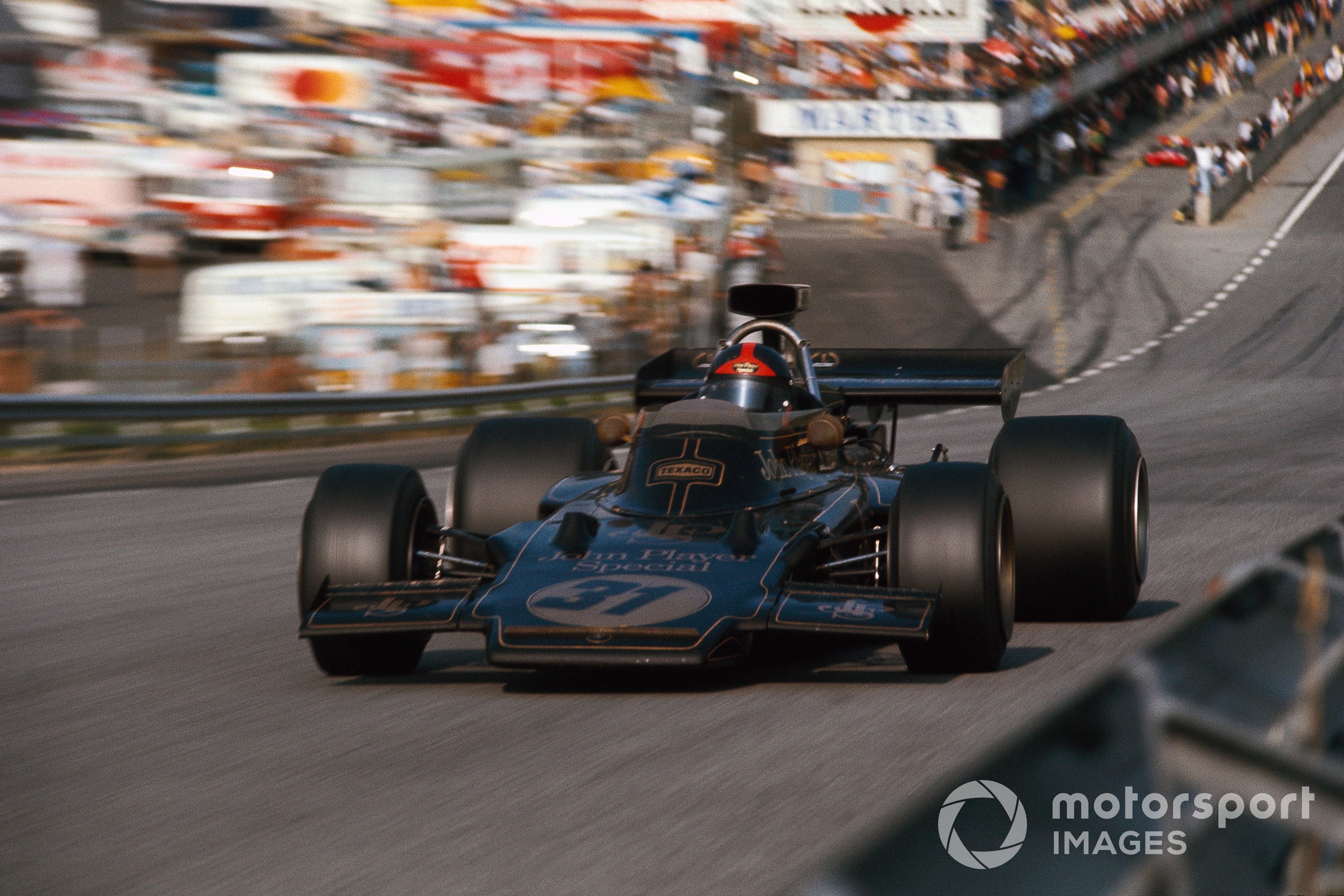 Emerson Fittipaldi in the Lotus-Ford 72D at the 1972 Austrian GP
