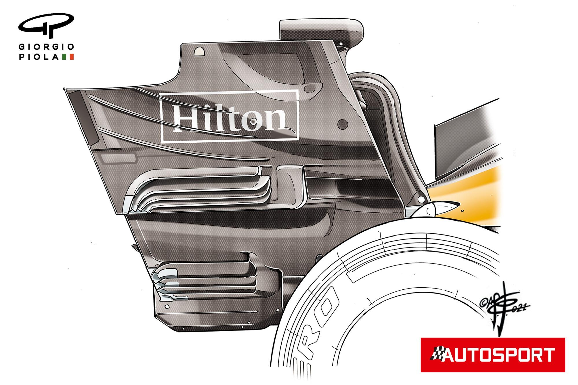 McLaren MCL35M endplate