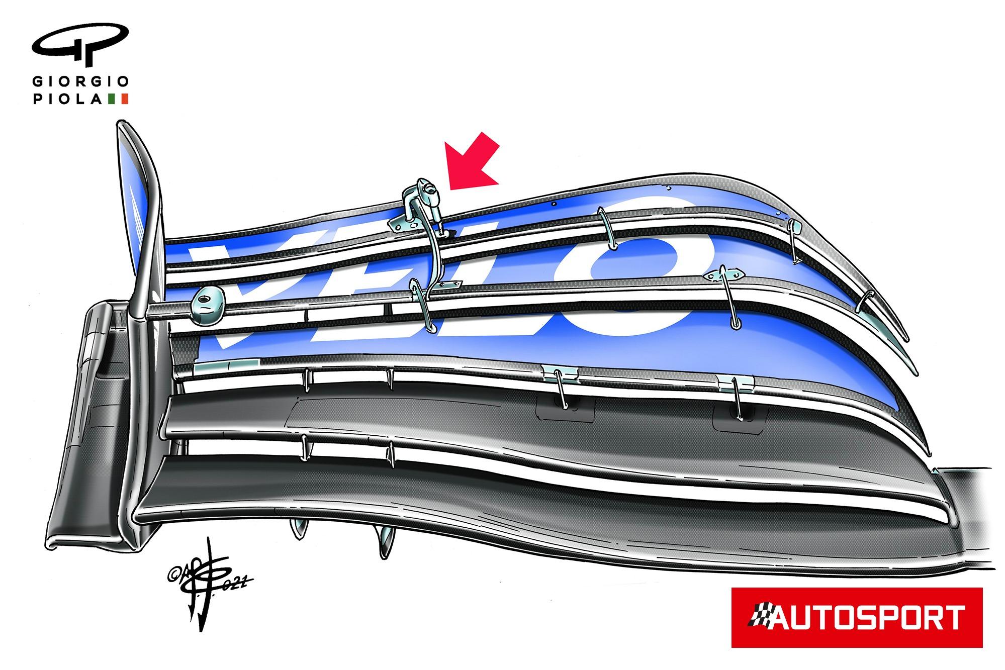McLaren MCL35M Monza front wing