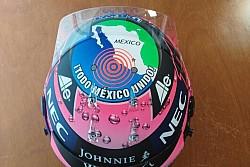 Шлем Серхио Переса для Гран При Мексики