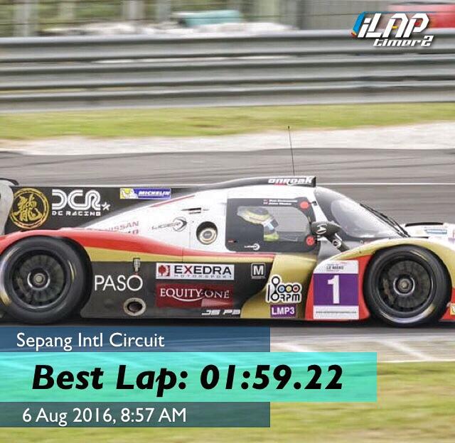 Fastest Lap Ever At Sepang Asian Lemans Sprint Cup