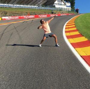 Felipe Massa na Eau Rouge