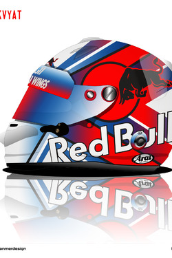 Daniil Kvyat Helmet 1