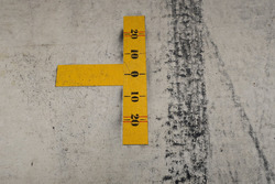 Pitstop-markering voor de Mercedes-garage in Austin