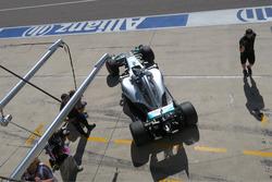 Nico Rosberg verlaat de pitbox in Austin