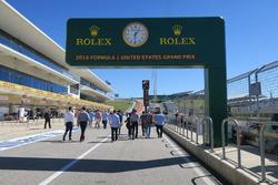 De pitstraat van het Circuit of the Americas