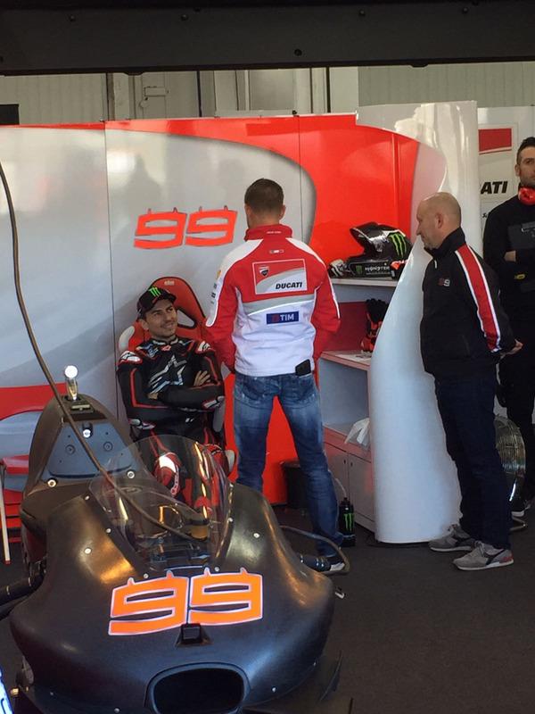 Lorenzo debut Ducati Stoner