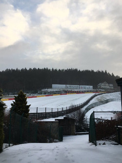 Spa-Francorchamps nevado. Foto: Spa-Francorchamps