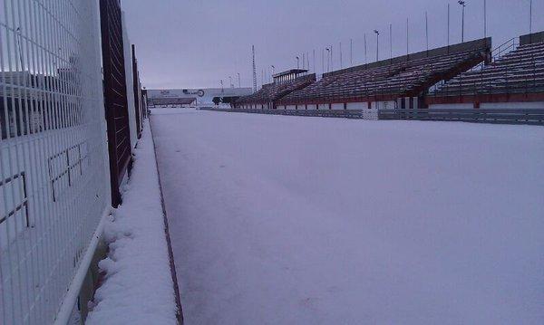Circuito de Albacete nevado. Foto: @Caljouw