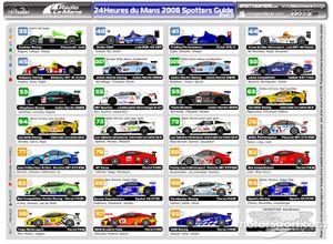 24 Hours Le Mans 2008 Spotters Guide V2