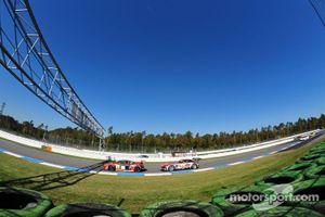 ADAC GT Masters Race 1 - Kenneth Heyer chasing Danny van Dongen