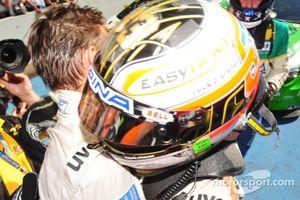 ADAC GT Masters Race 1 - Dino Lunardi and Alex Margaritis celebrating