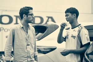 Driver Ryo Hirakawa and FSC team founder Antoine Malin