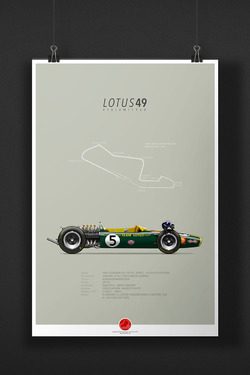 LOTUS 49 Graham Hill